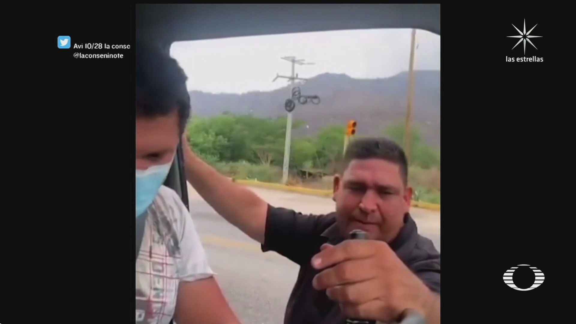 supuesto policia extorsiona a conductor de trailer en chiapas