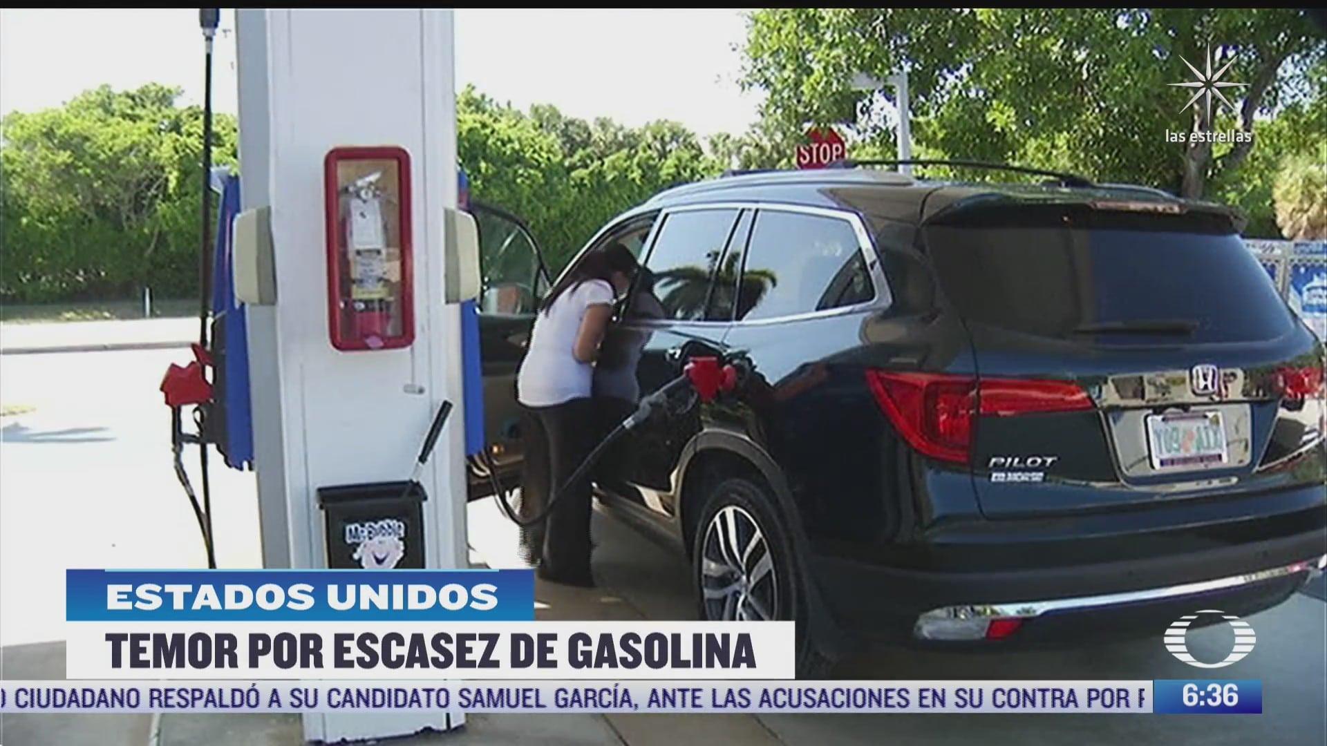 temen escasez de gasolina en eeuu tras ciberataque