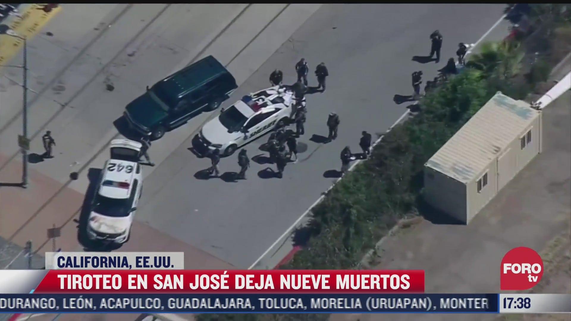 tiroteo en san jose california deja al menos nueve muertos