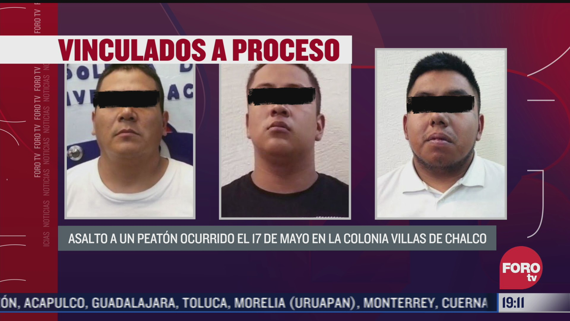 vinculan a proceso a tres tras asalto en valle de chalco