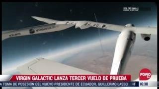 virgin galactic realiza nuevo vuelo espacial de prueba