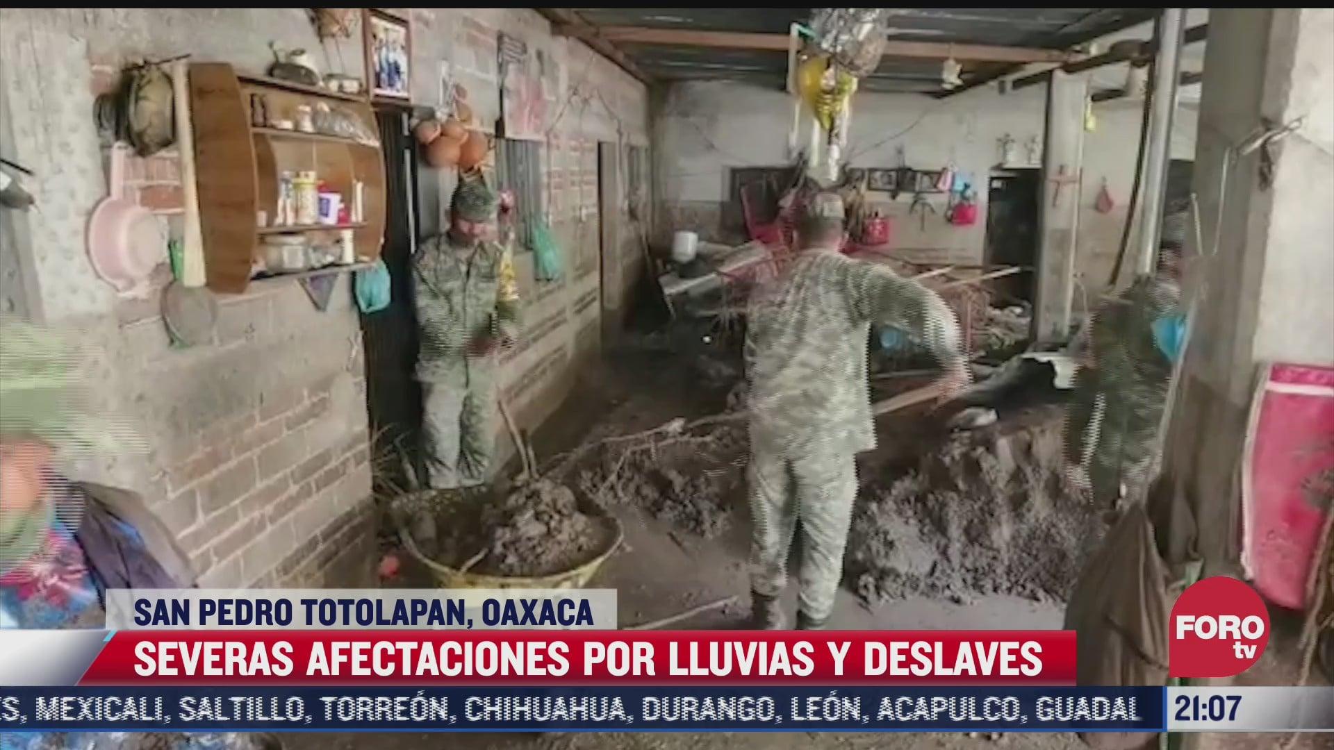 viviendas resultan afectadas por lluvias y deslaves en san pedro totolapan