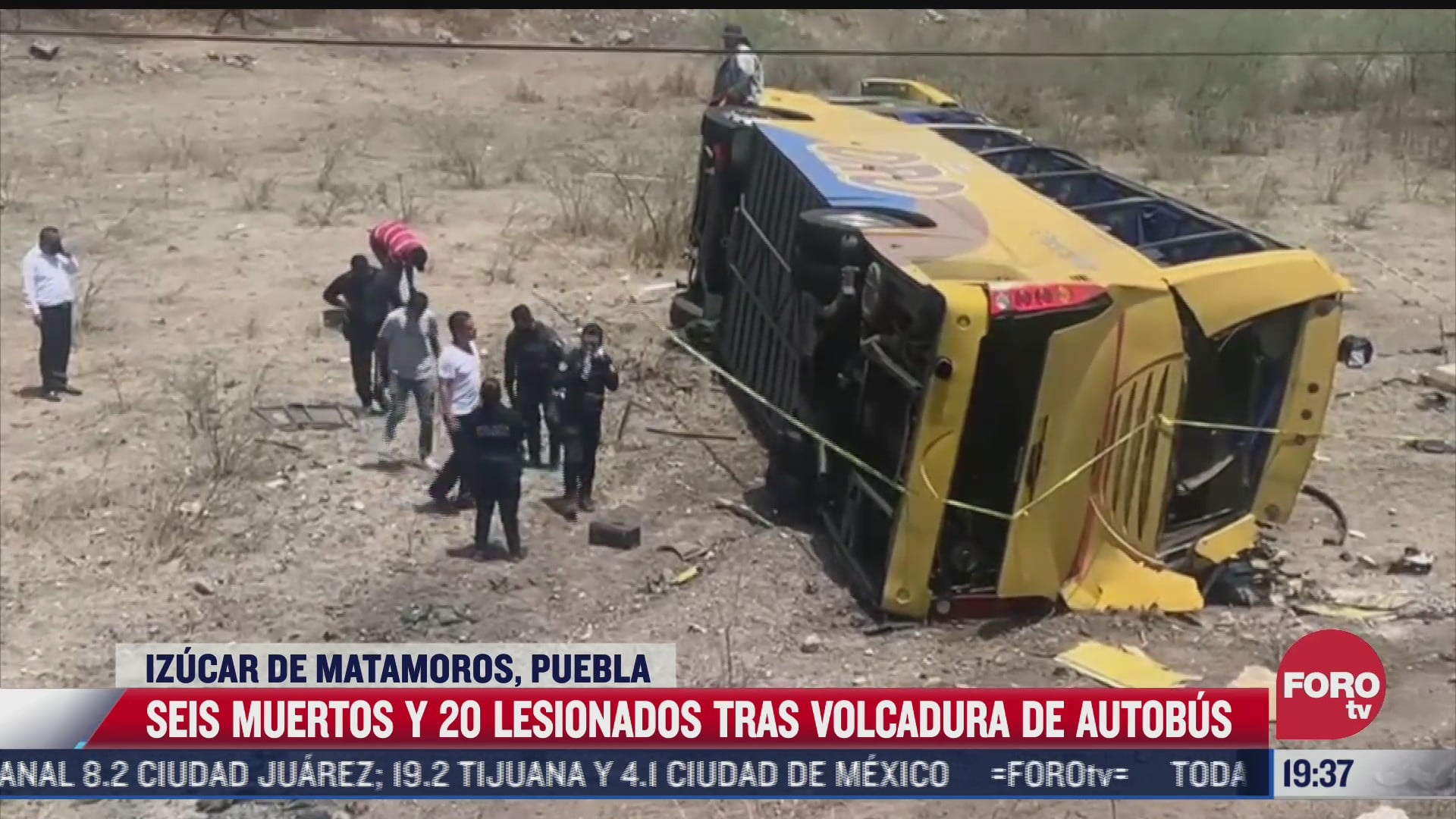 volcadura de autobus en puebla deja 6 muertos y 20 heridos