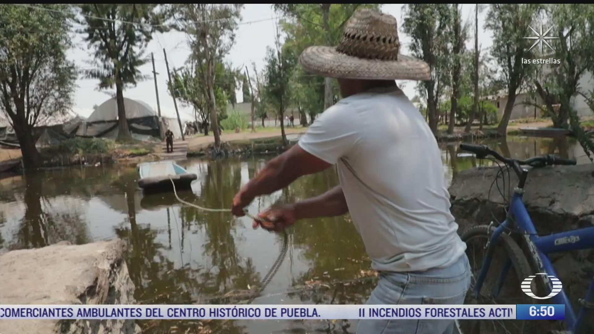 xochimilco se esta secando