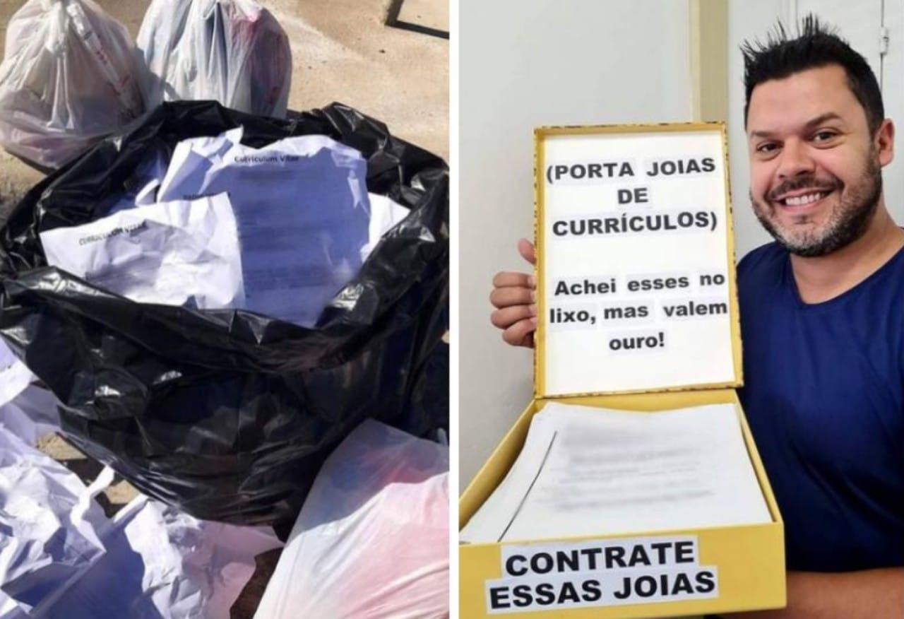Recuperó 62 currículums de la basura en Brasil