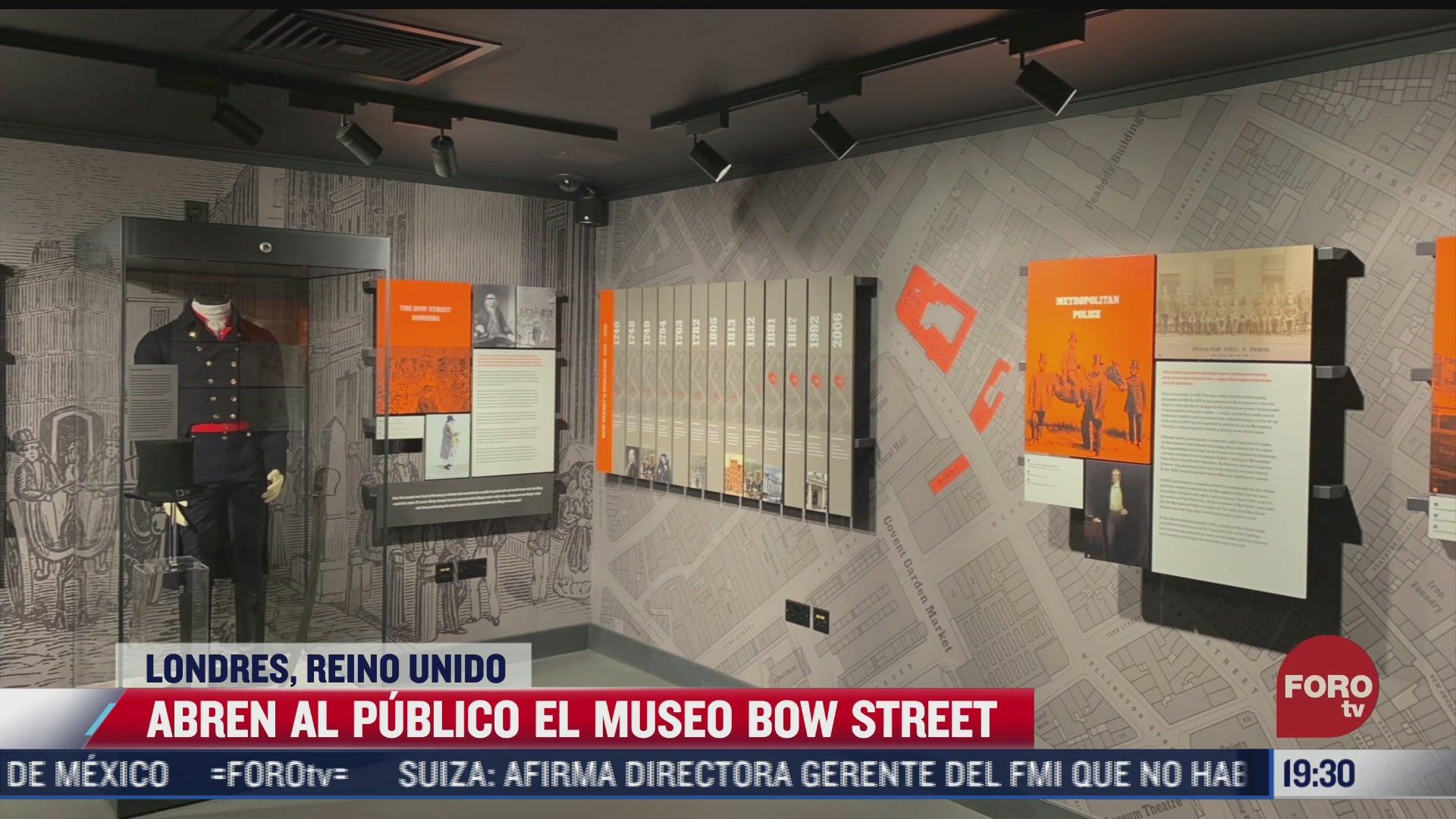 abren al publico museo de bow street