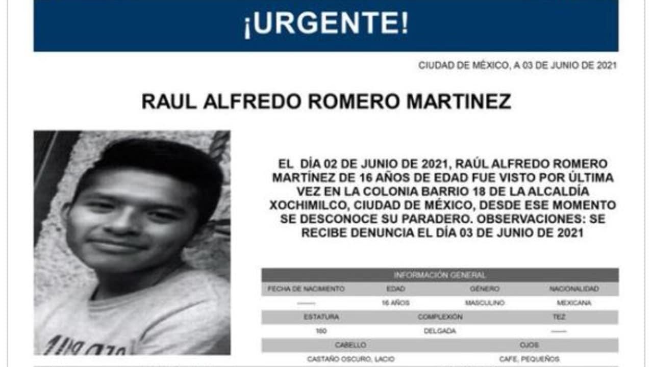 Activan Alerta Amber para localizar a Raúl Alfredo Romero Martínez
