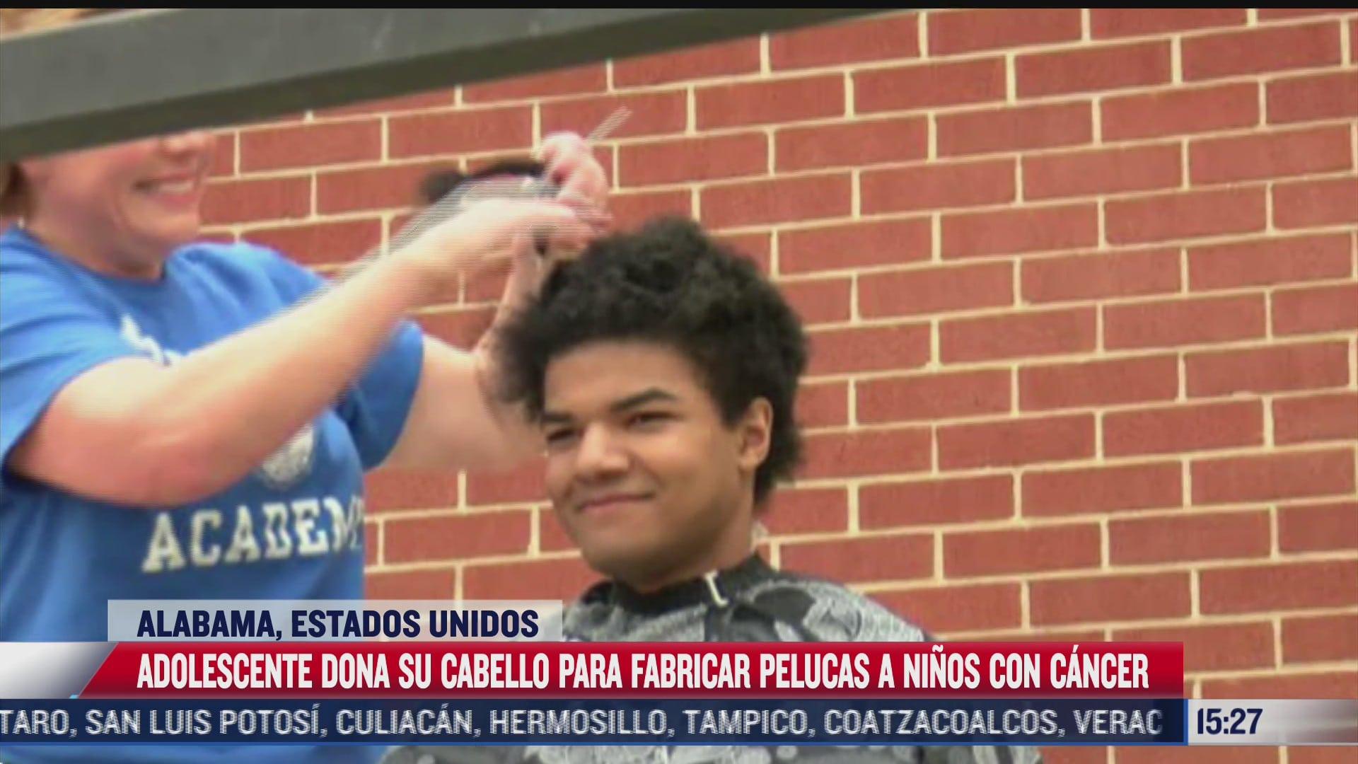 adolescente dona cabello para ninos con cancer