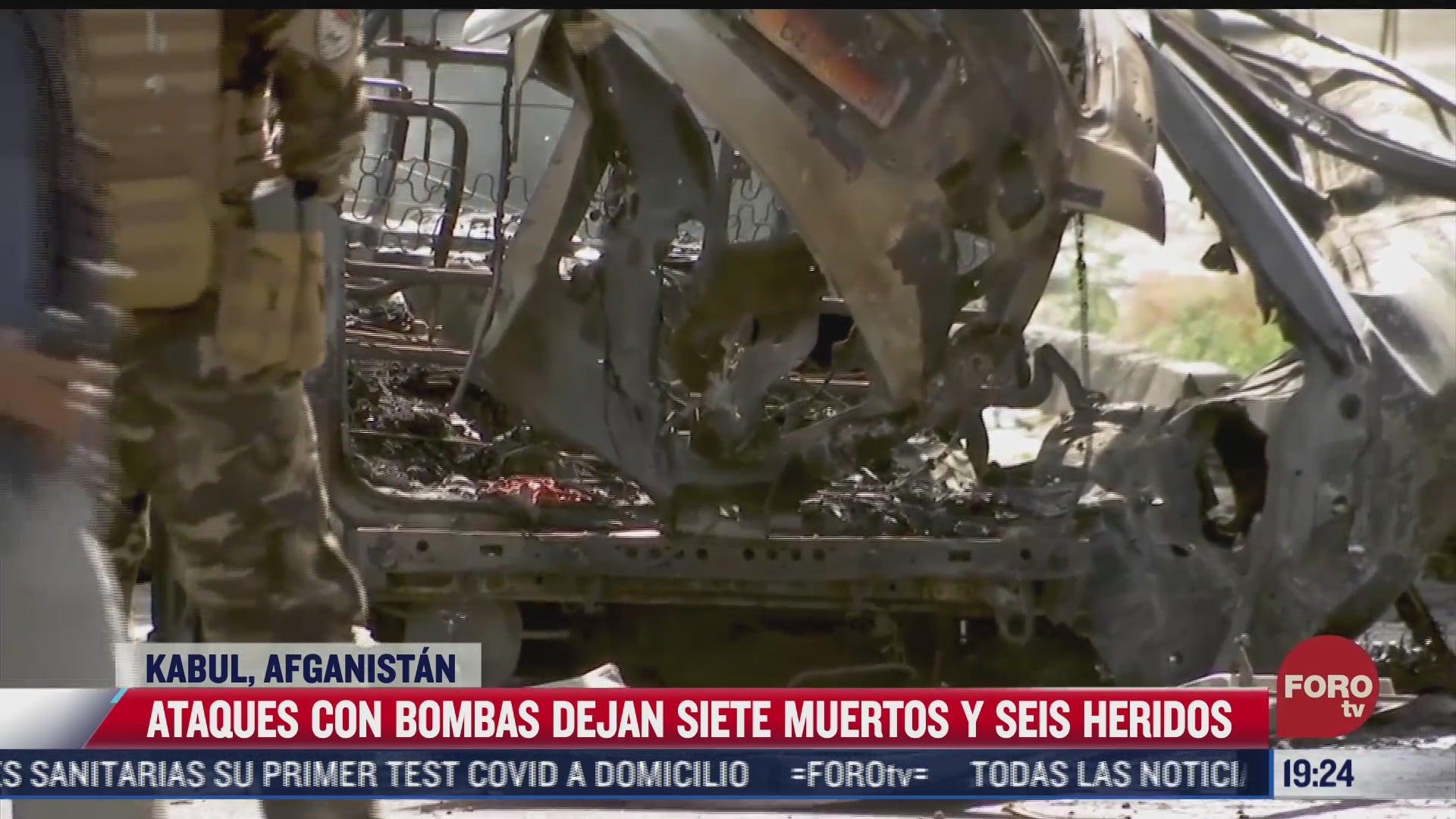 al menos 7 muertos deja atentados con coches bomba en kabul