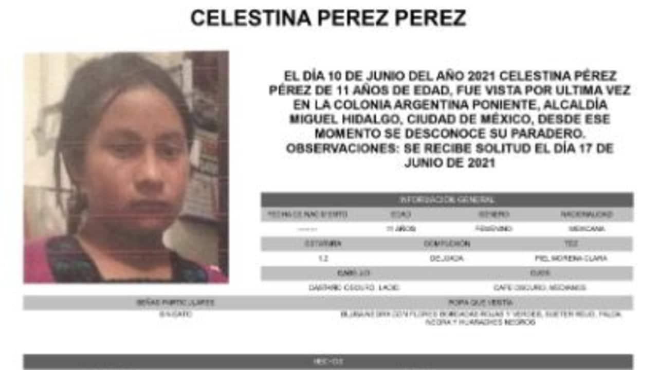 Activan Alerta Amber para localizar a Celestina Pérez Pérez