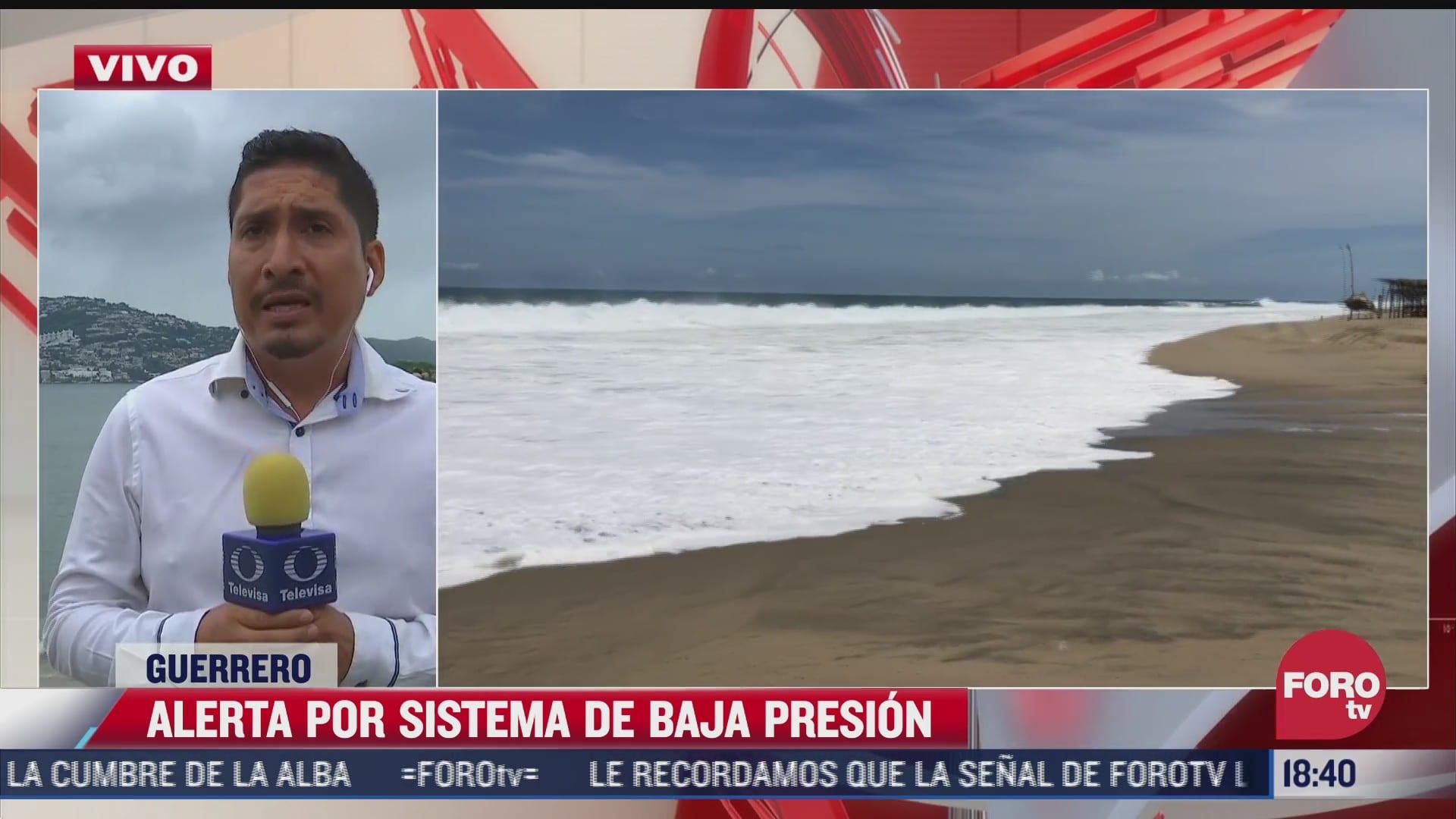 alertan por sistema de baja presion en acapulco guerrero