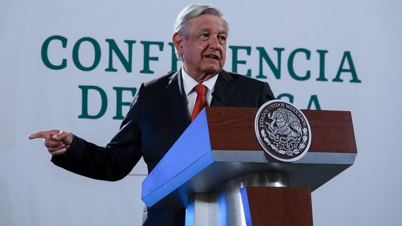 El presidente de México, Andrés Manuel López Obrador, en su conferencia de prensa matutina