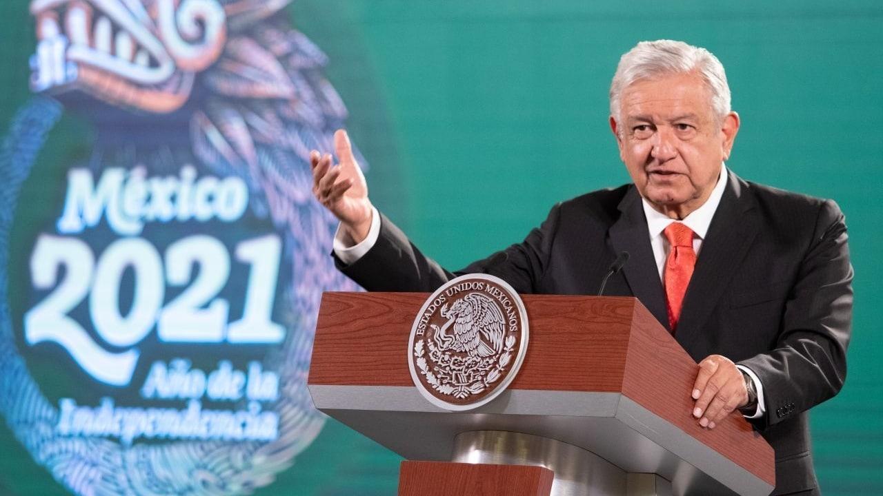 El presidente de México, Andrés Manuel López Obrador, en su conferencia de prensa matutina.