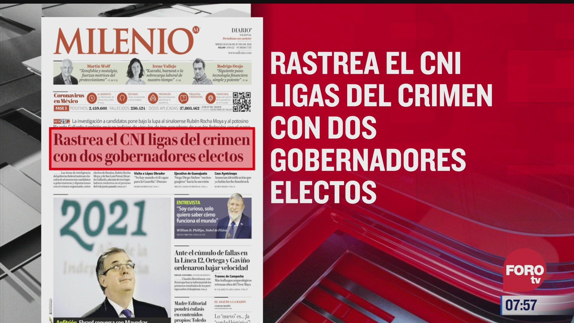 analisis de las portadas nacionales e internacionales del 16 de junio del