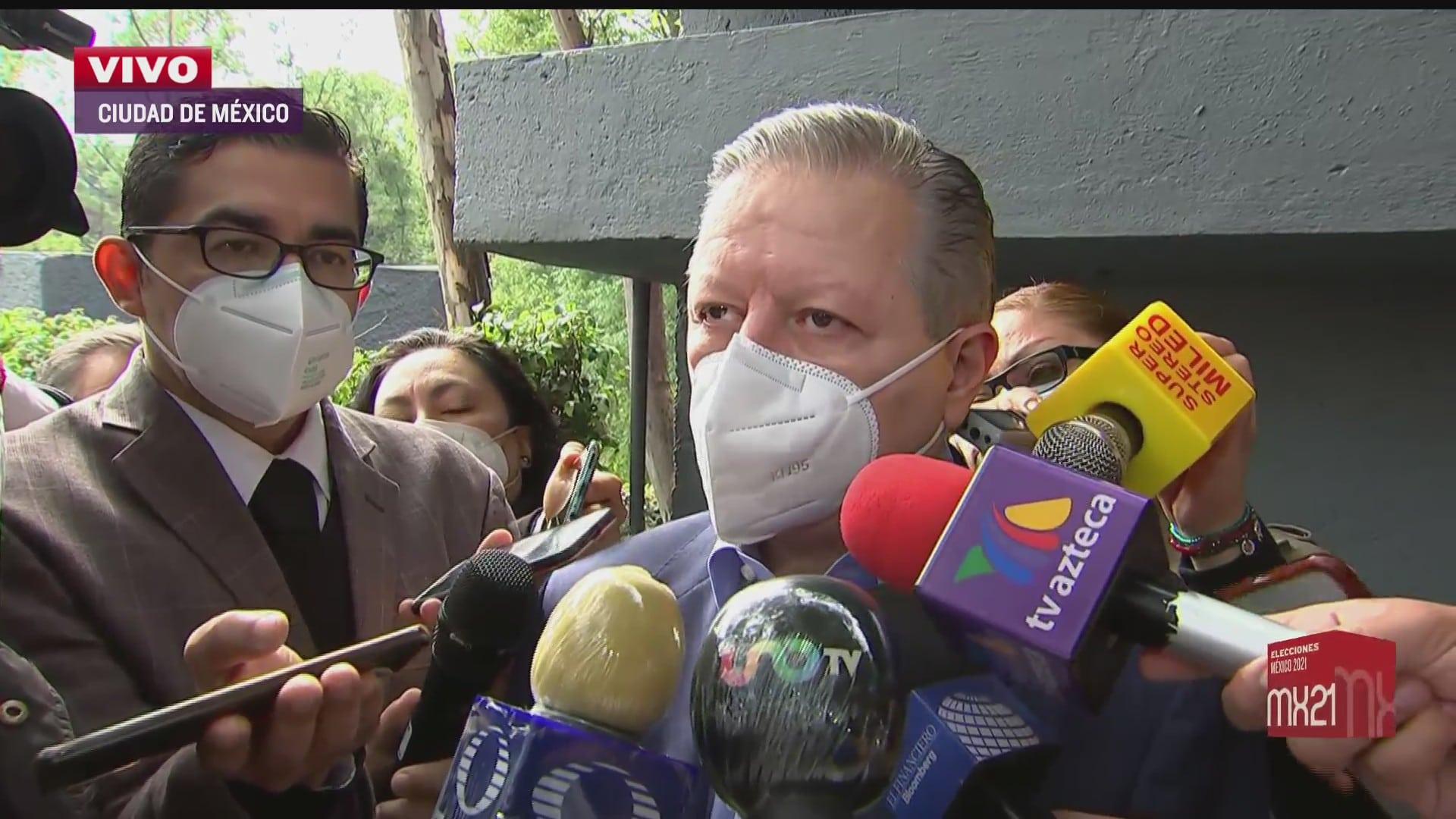 arturo zaldivar ministro presidente de la scjn emite su voto en cuajimalpa