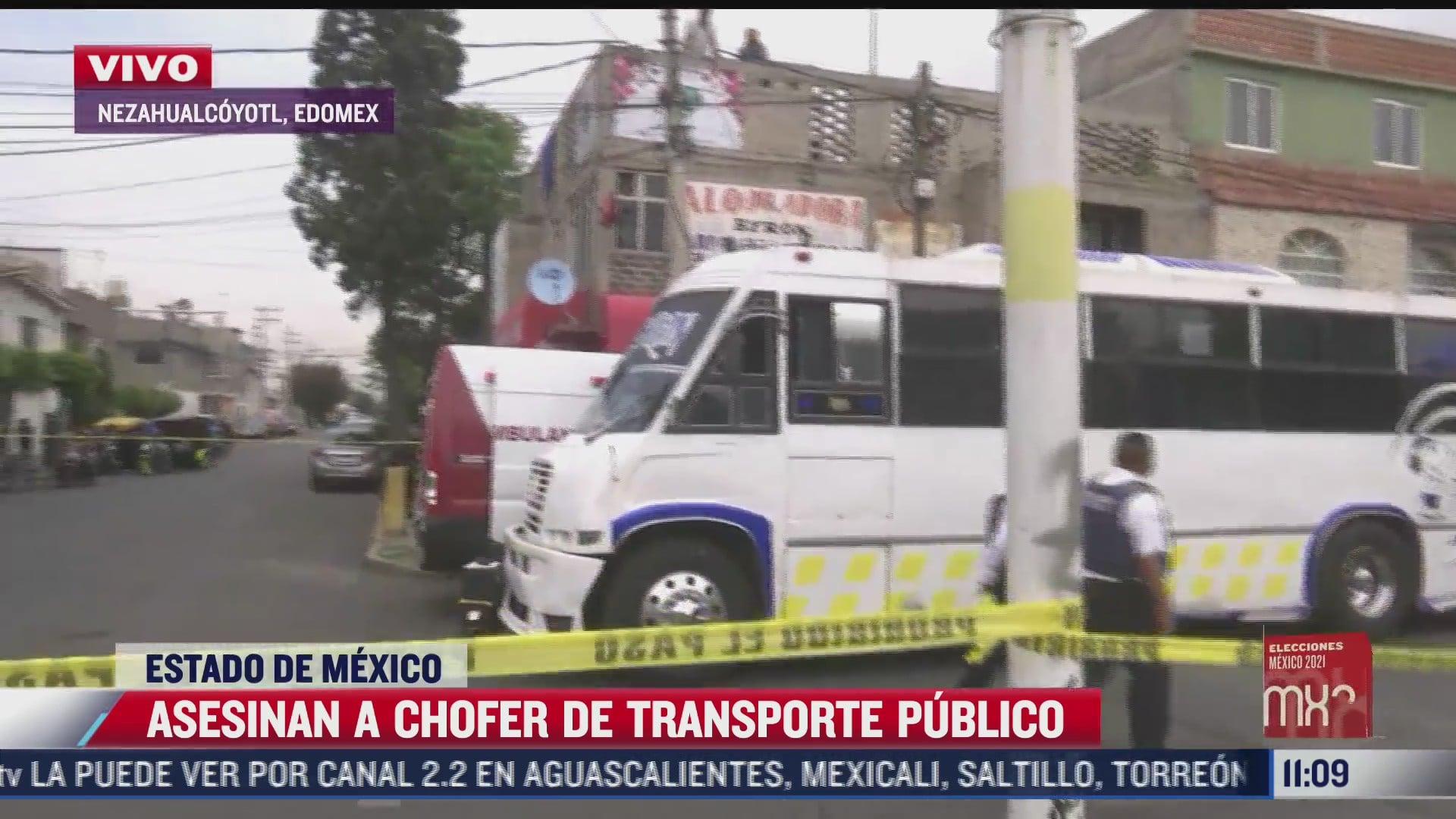 asesinan a chofer de transporte publico en nezahualcoyotl estado de mexico