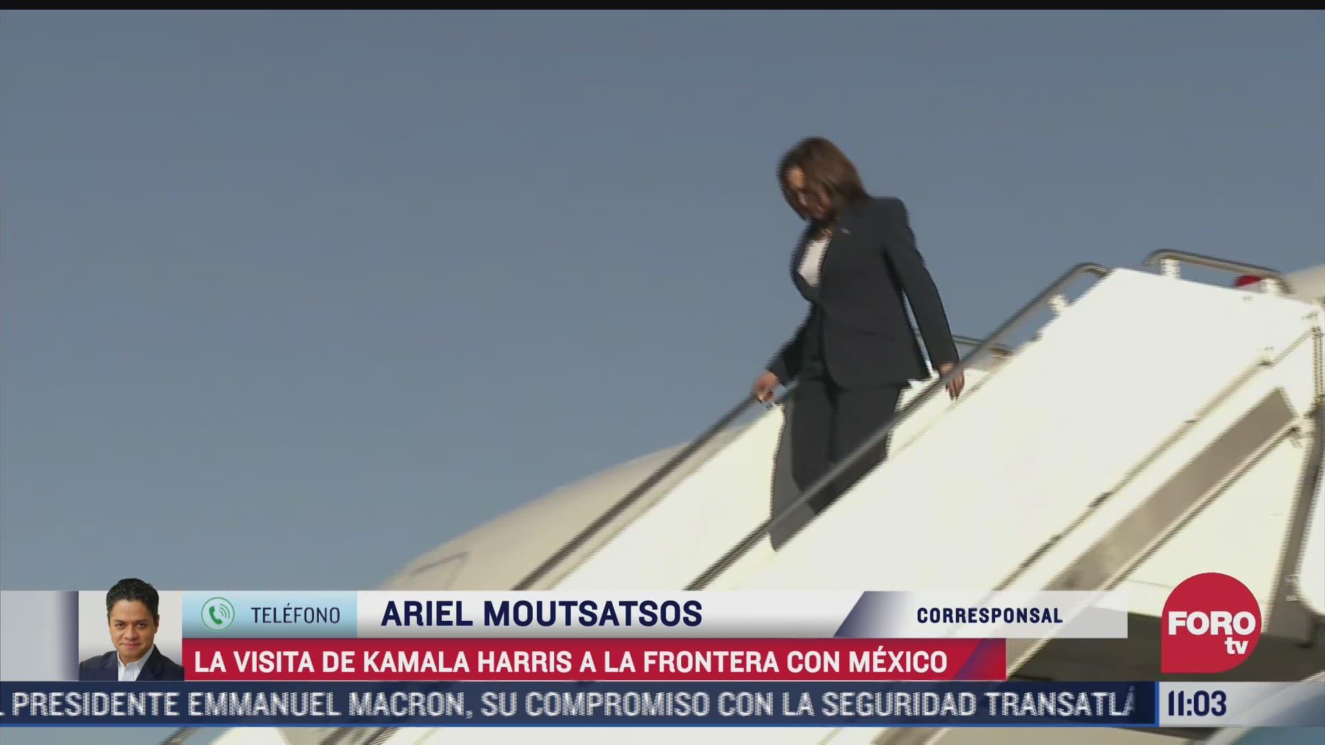 asi fue la visita de kamala harris a la frontera con mexico
