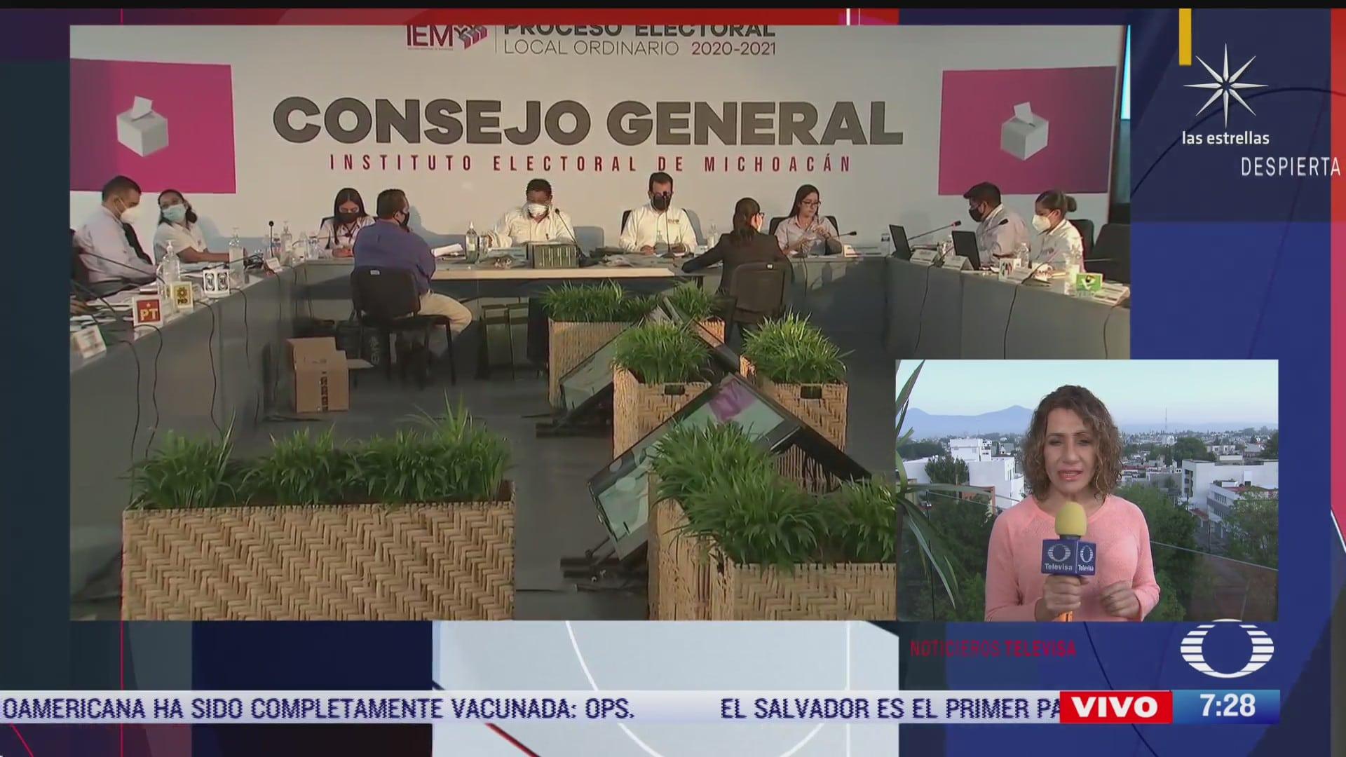 avanza conteo de votos en michoacan