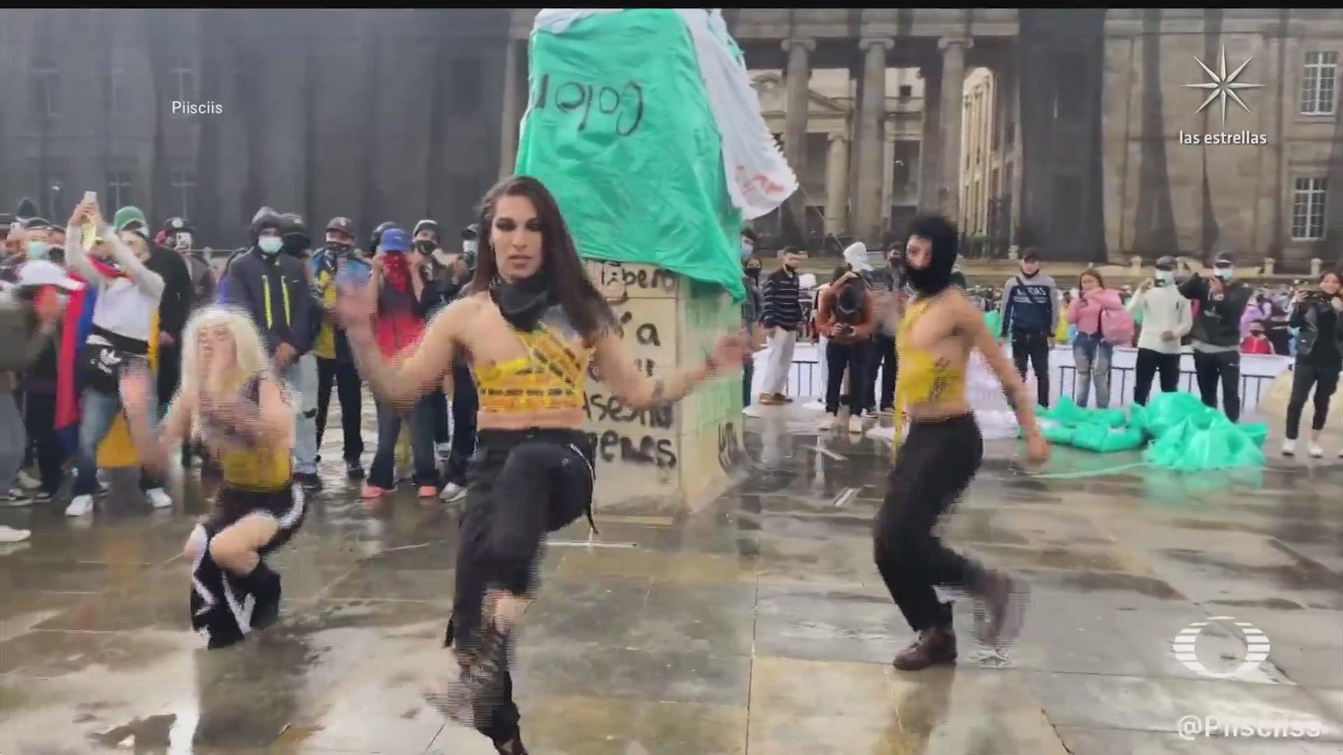 bailarinas transgenero icono de las manifestaciones en colombia