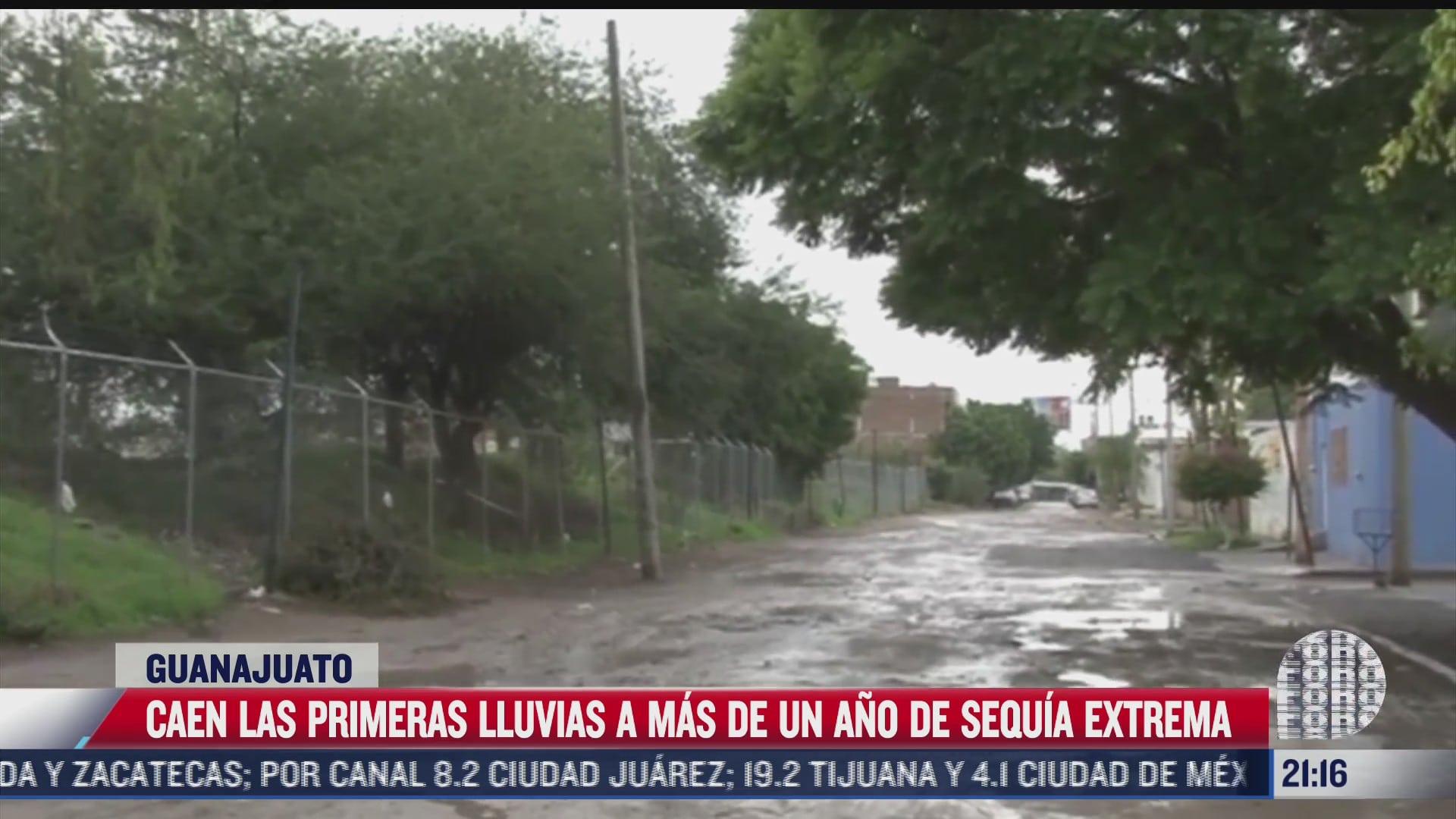caen las primeras lluvias tras sequia extrema en guanajuato