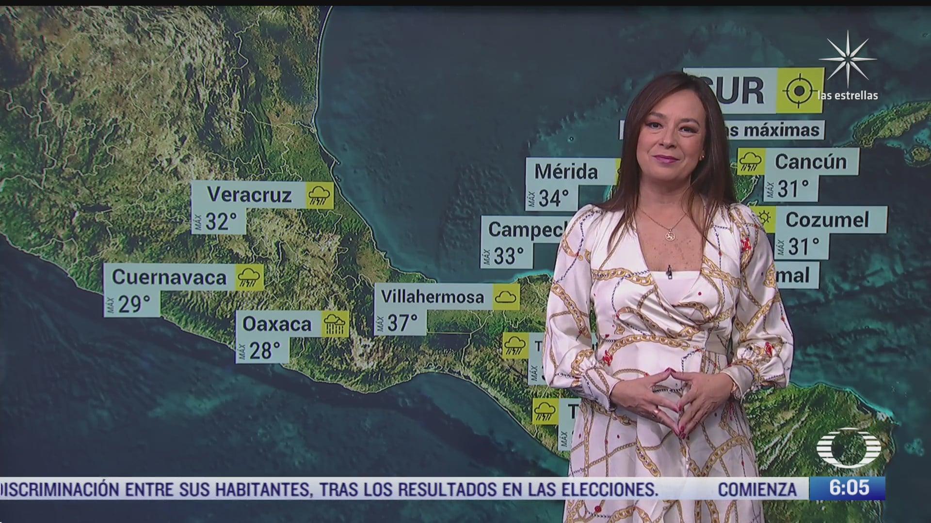 canales de baja presion provocaran lluvias fuertes en mexico