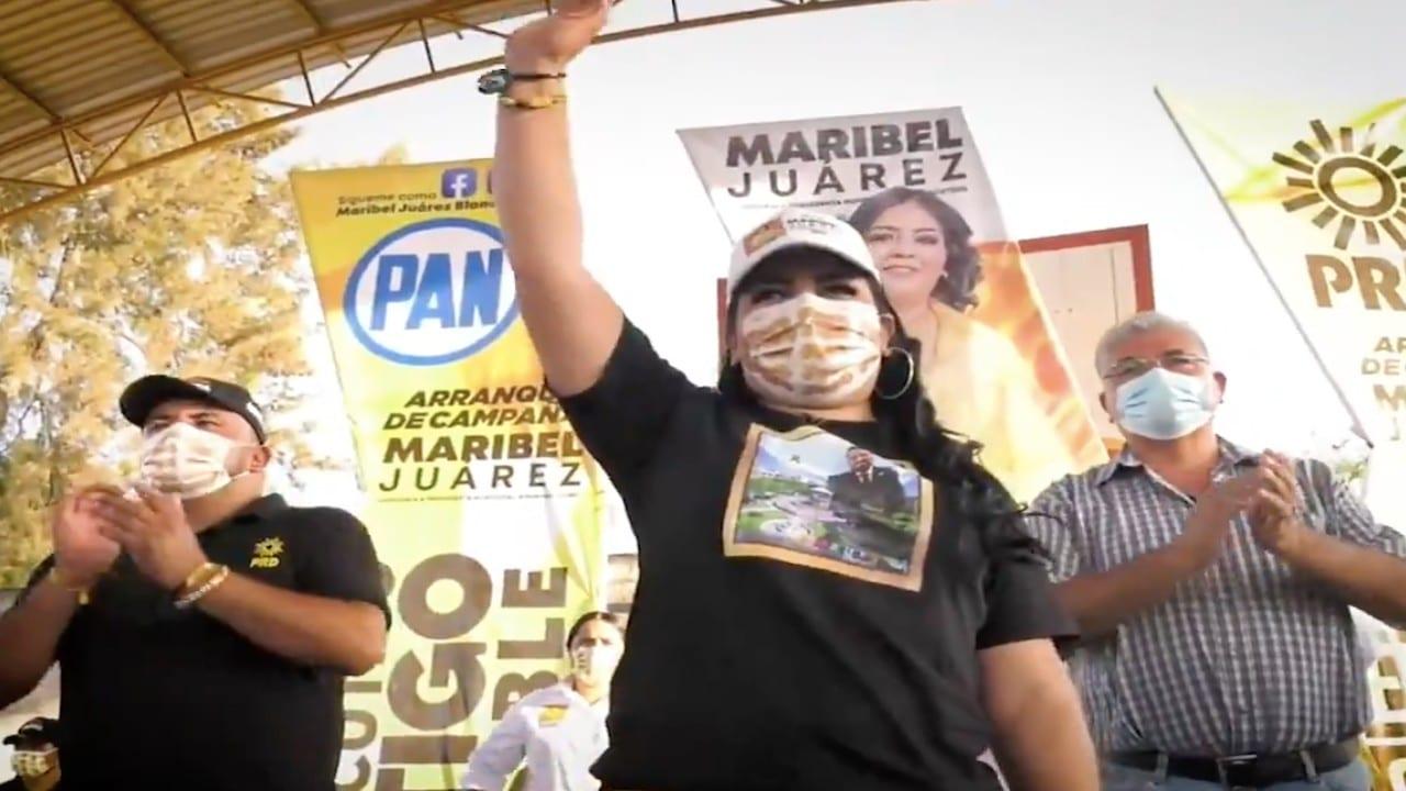 Candidata de Angamacutiro, Michoacán, hace campaña con escolta permanente tras amenazas de muerte