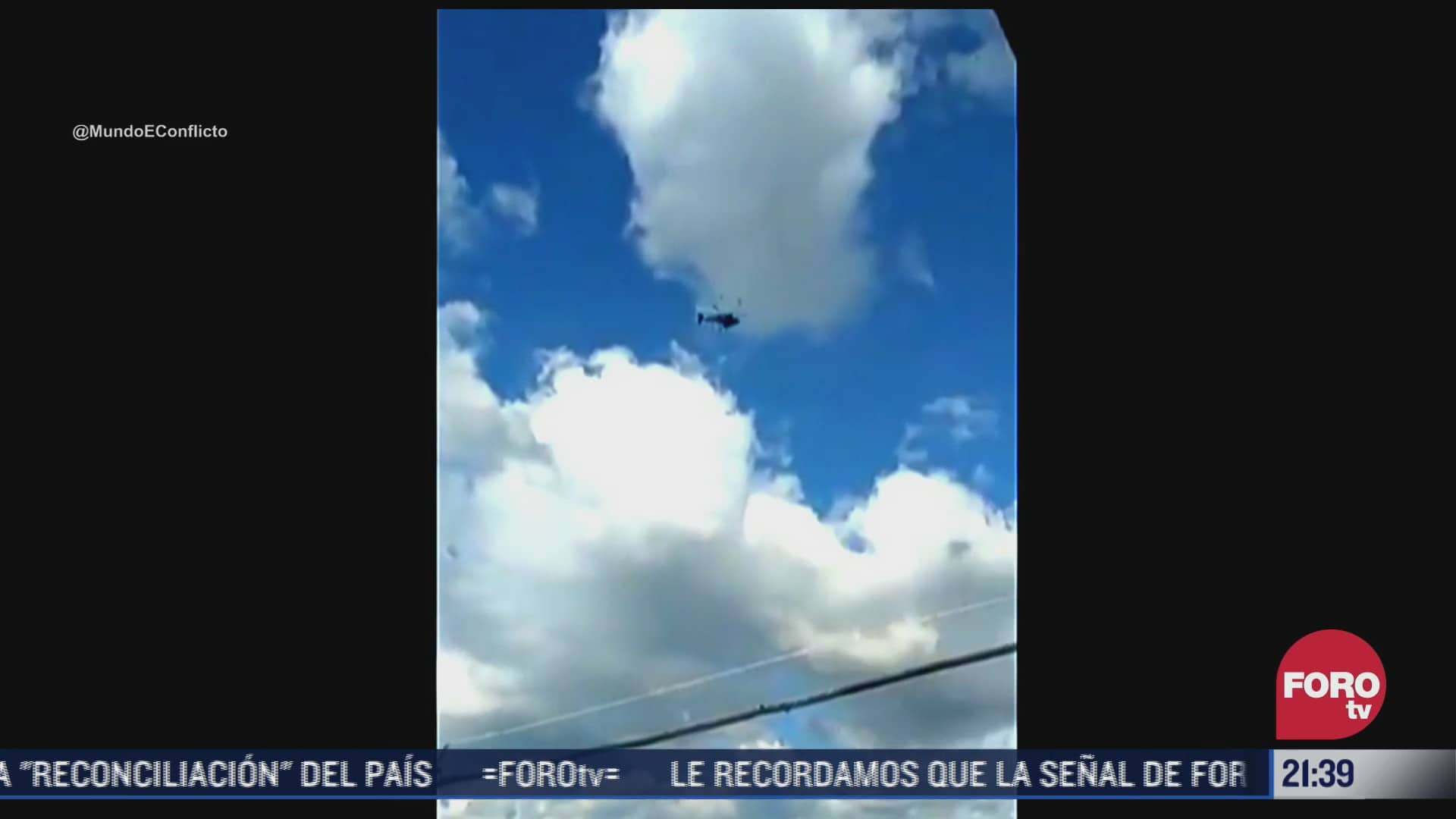 Video del momento del ataque a helicóptero de Ivan Duque, presidente de Colombia
