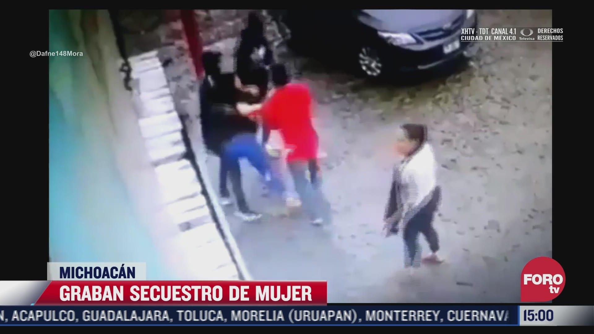 captan secuestro de mujer en apatzingan michoacan