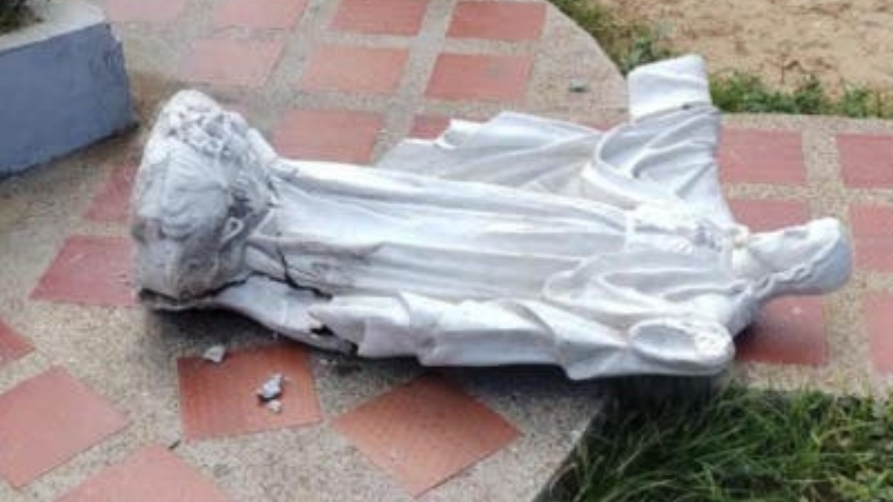 Muere niña aplastada por figura de Sagrado Corazón de 150kg