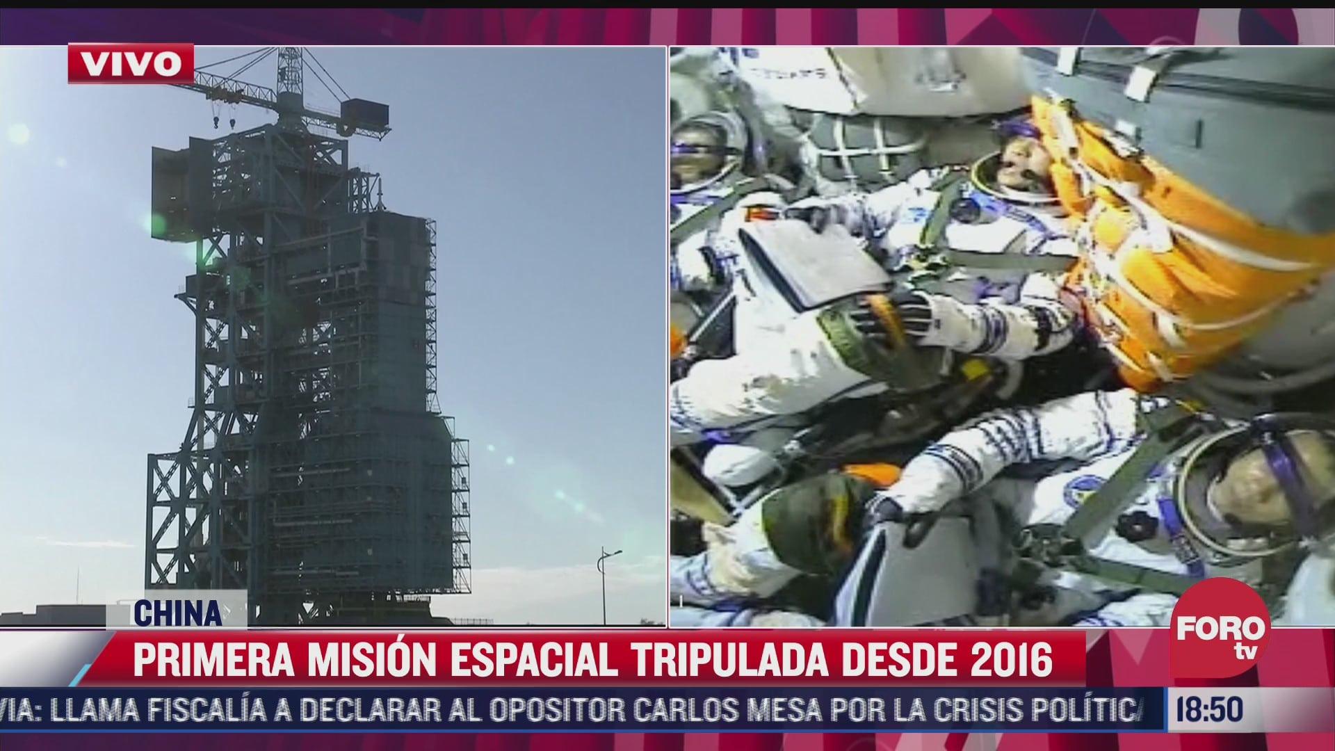 china alista primera mision tripulada al espacio desde