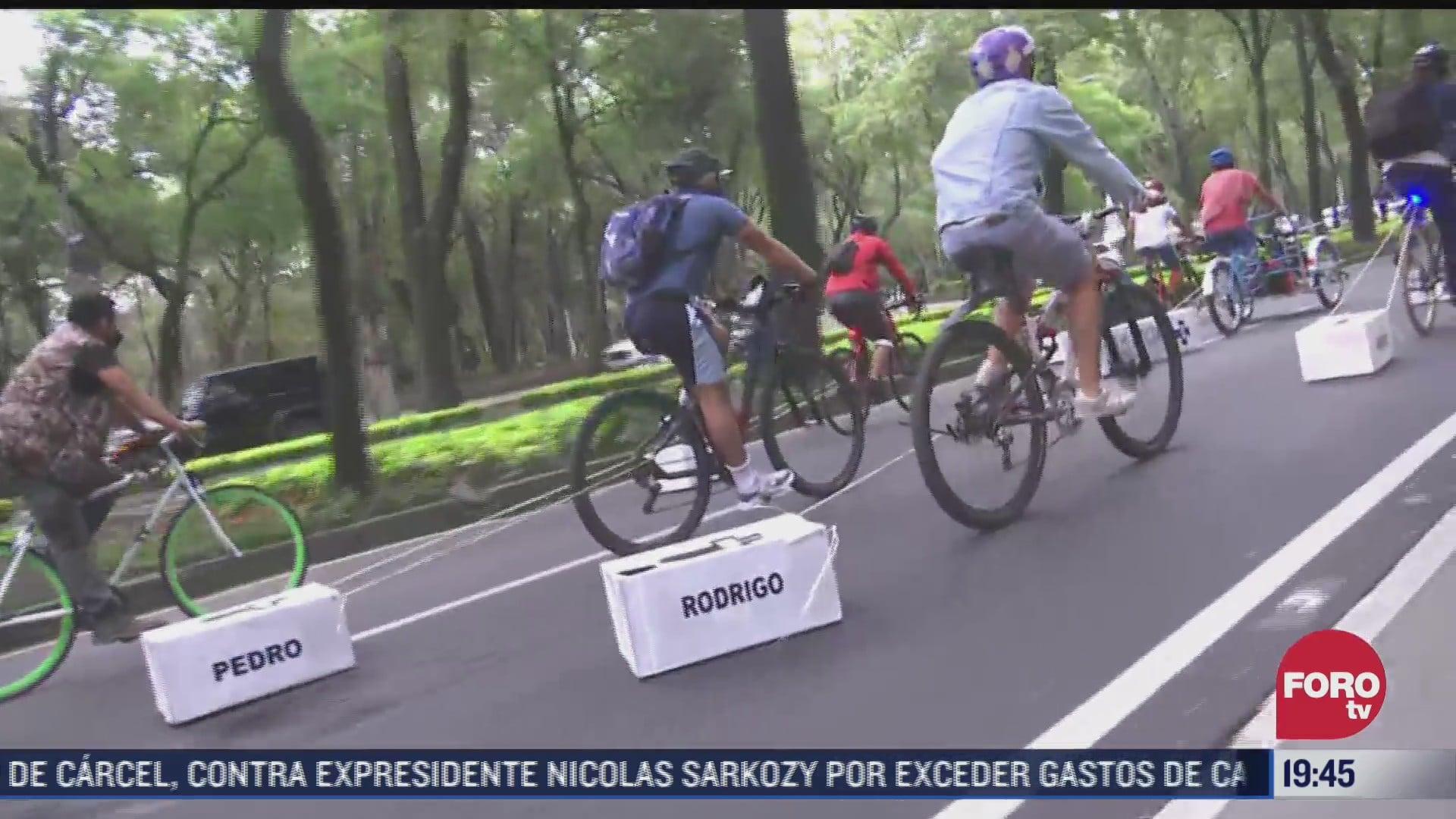 cierran paseo de la reforma por rodada ciclista