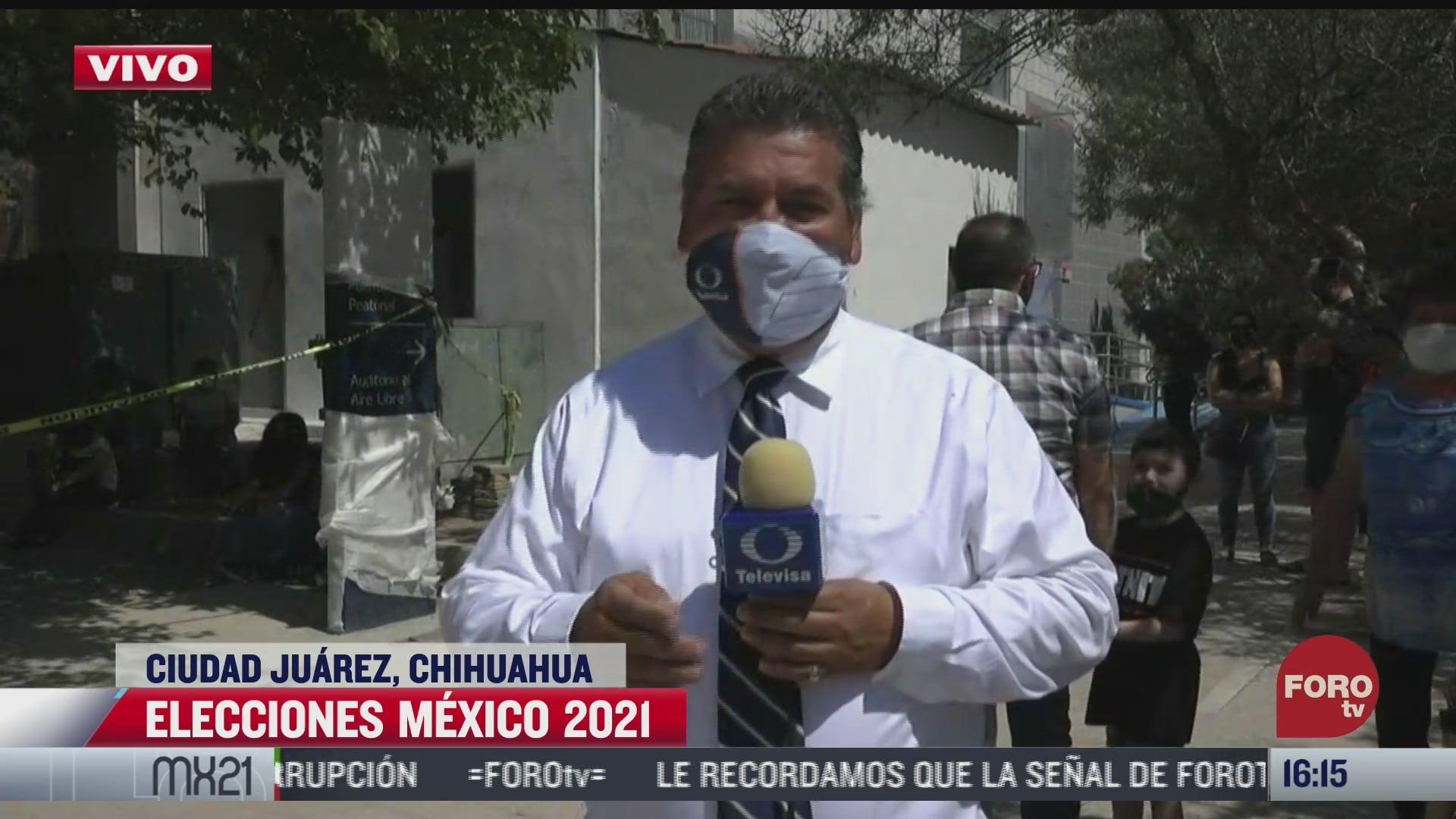 ciudad juarez instala el total de casillas reportan autoridades