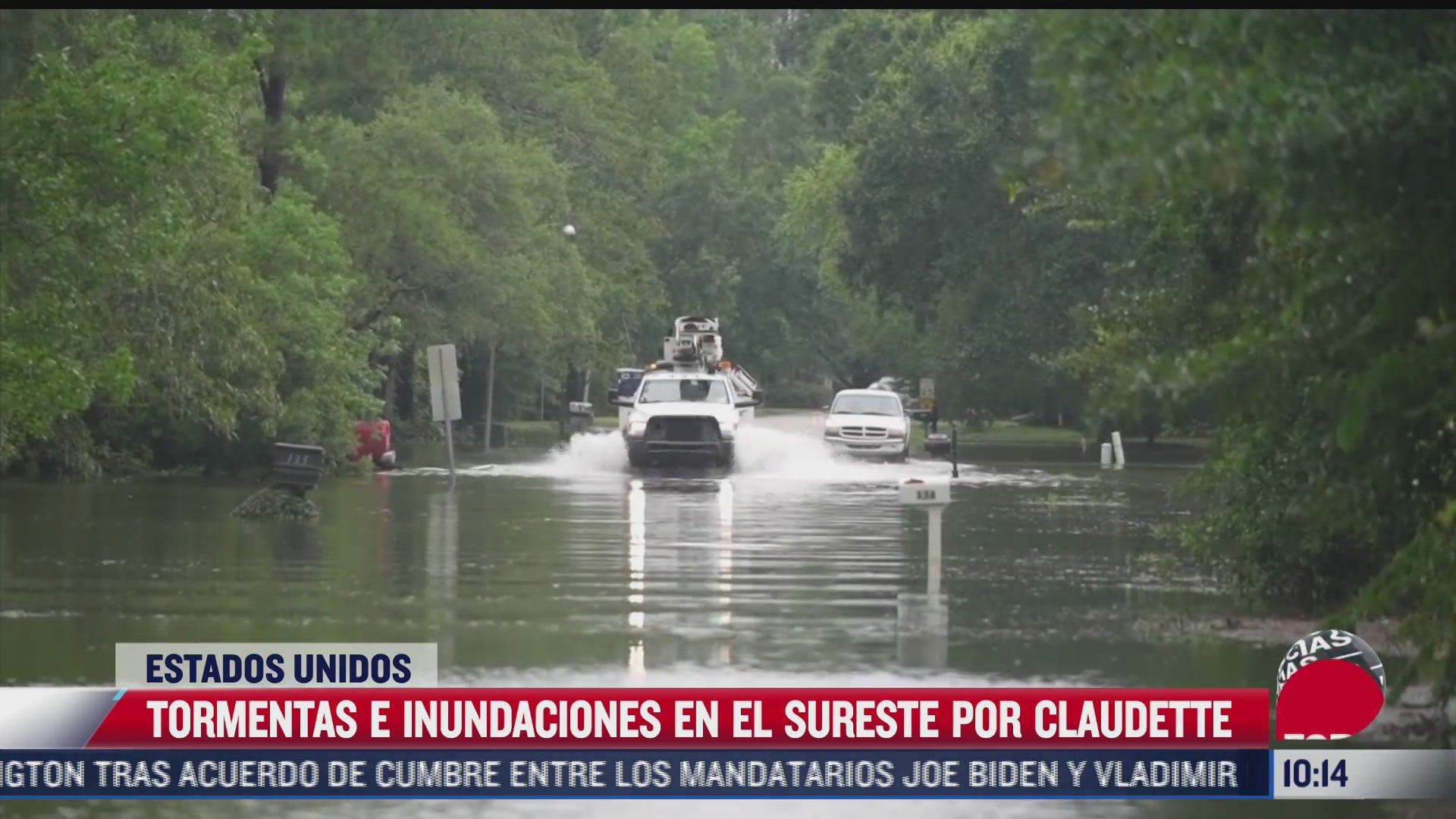 claudette provoca fuertes lluvias e inundaciones en eeuu