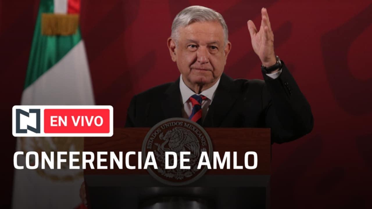 El presidente Andrés Manuel López Obrador en la conferencia de prensa matutina.