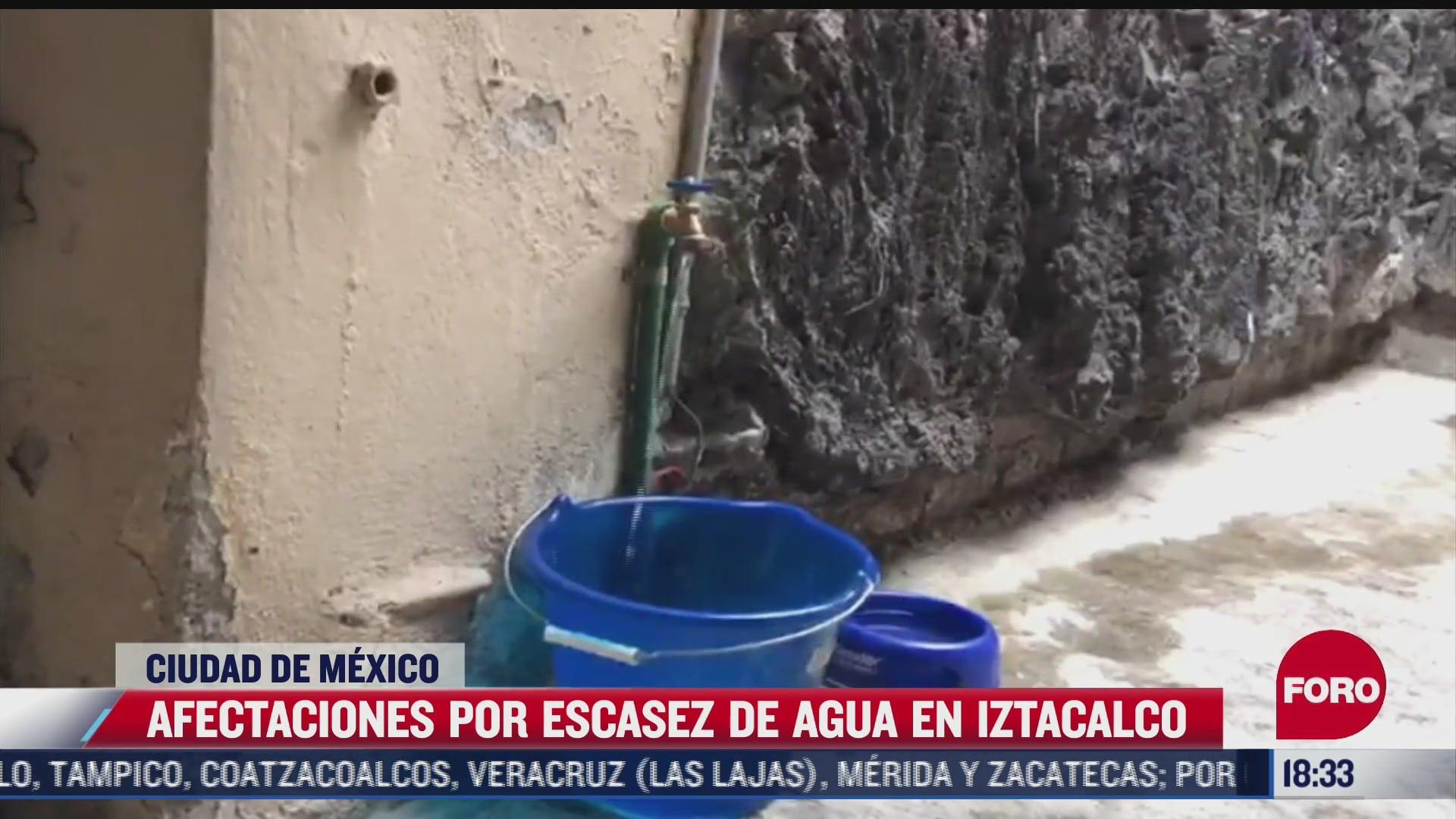 continuan afectaciones por escasez de agua en iztacalco