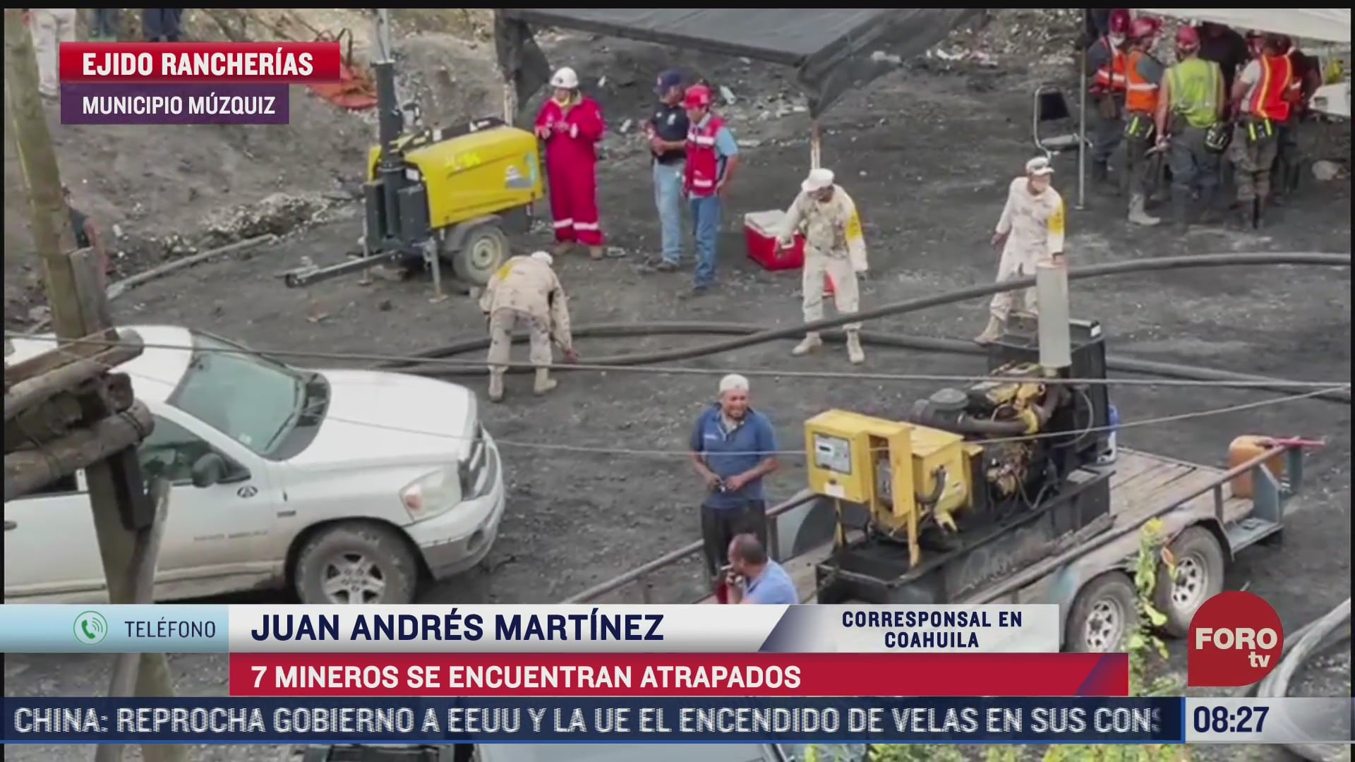continuan los trabajos para rescatar a siete mineros atrapados en coahuila