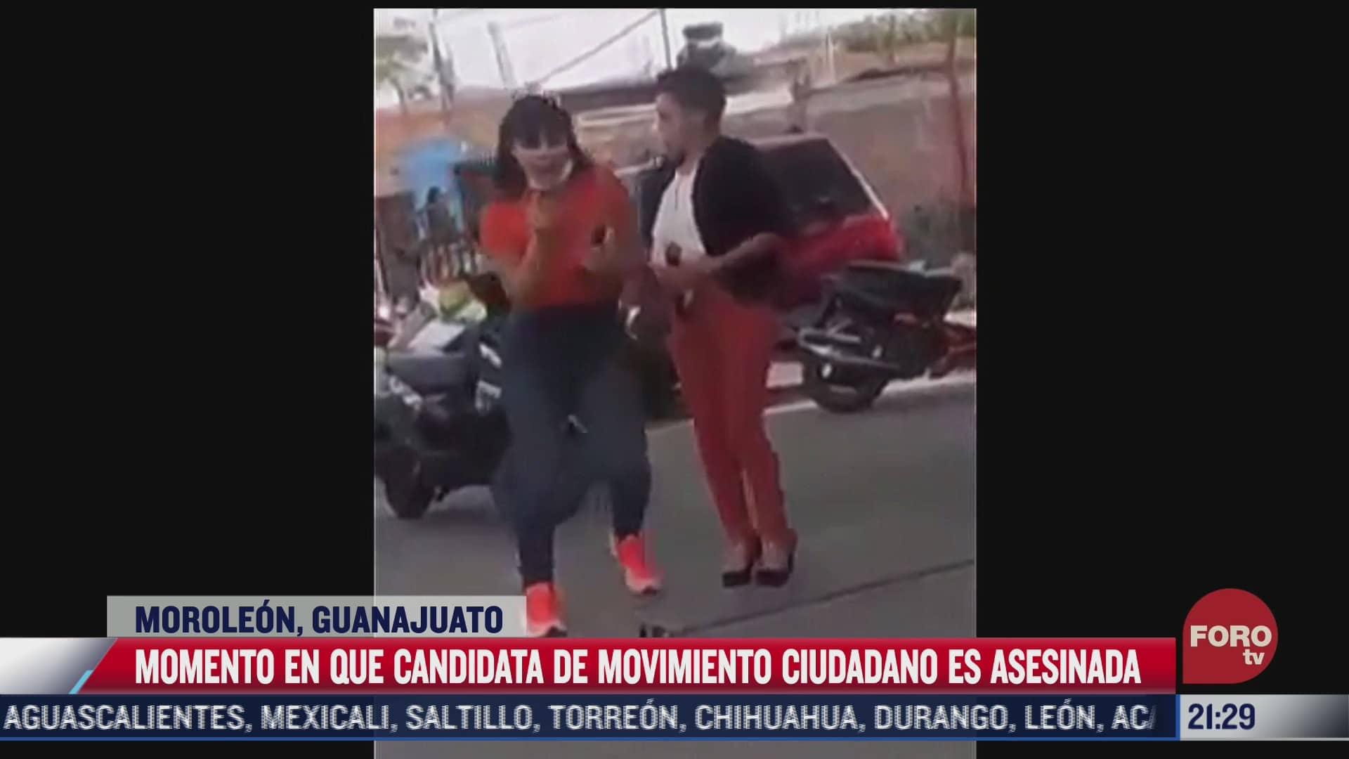 dan a conocer video que muestra el instante en que fue asesinada candidata de mc en moroleon