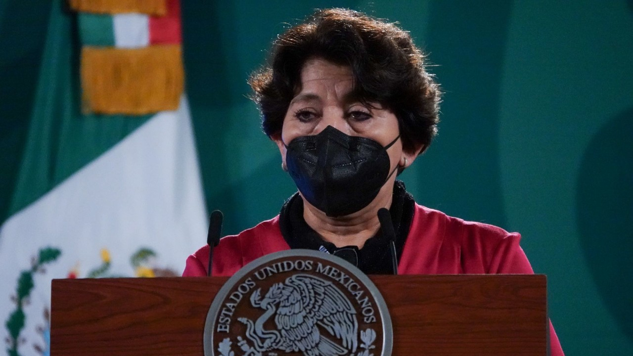 Delfina Gómez Álvarez, titular de la SEP