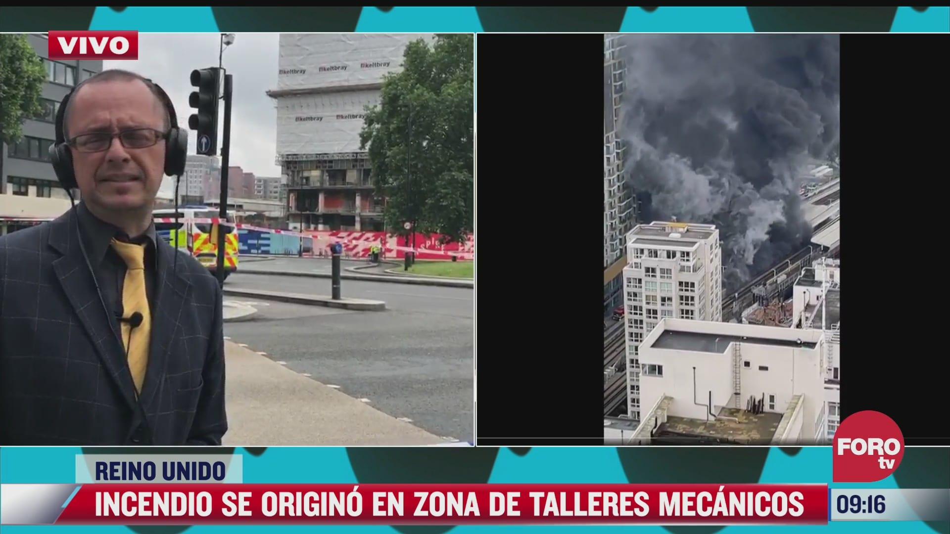 descartan acto terrorista en incendio cerca de estacion de tren en londres
