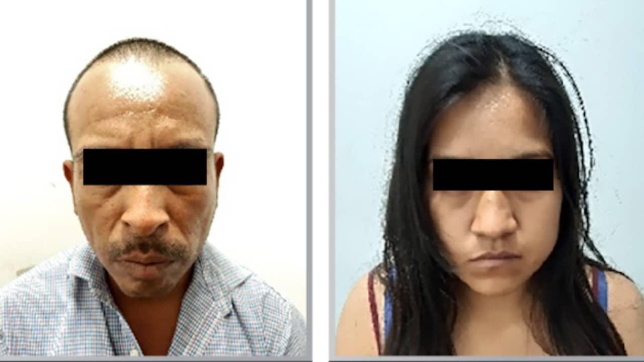 Supuestos secuestradores en San Juan Epatlán, Puebla (Twitter: @FiscaliaPuebla)