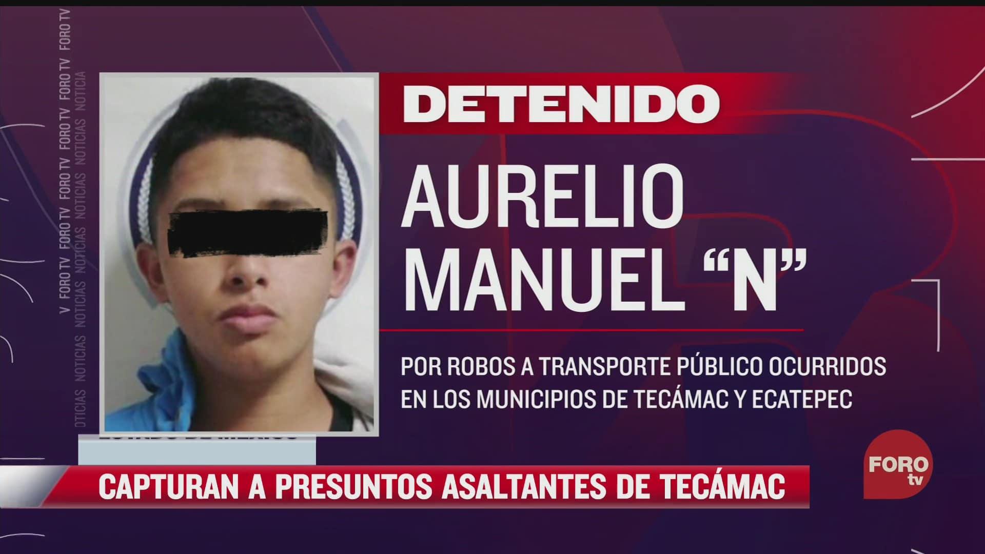 detienen a dos sujetos que asaltaron a transporte publico en tecamac