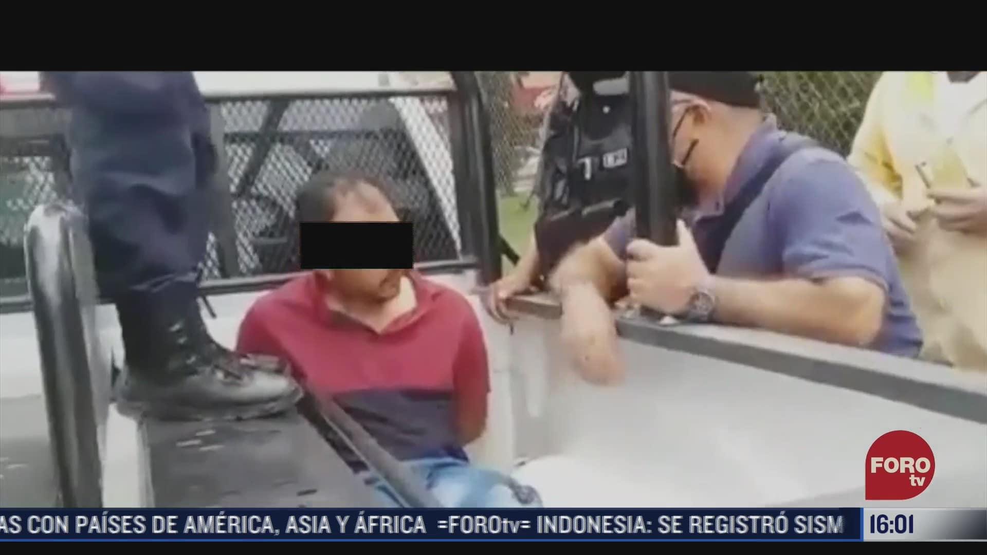 detienen a hombre que presuntamente intento secuestrar a nino en puebla