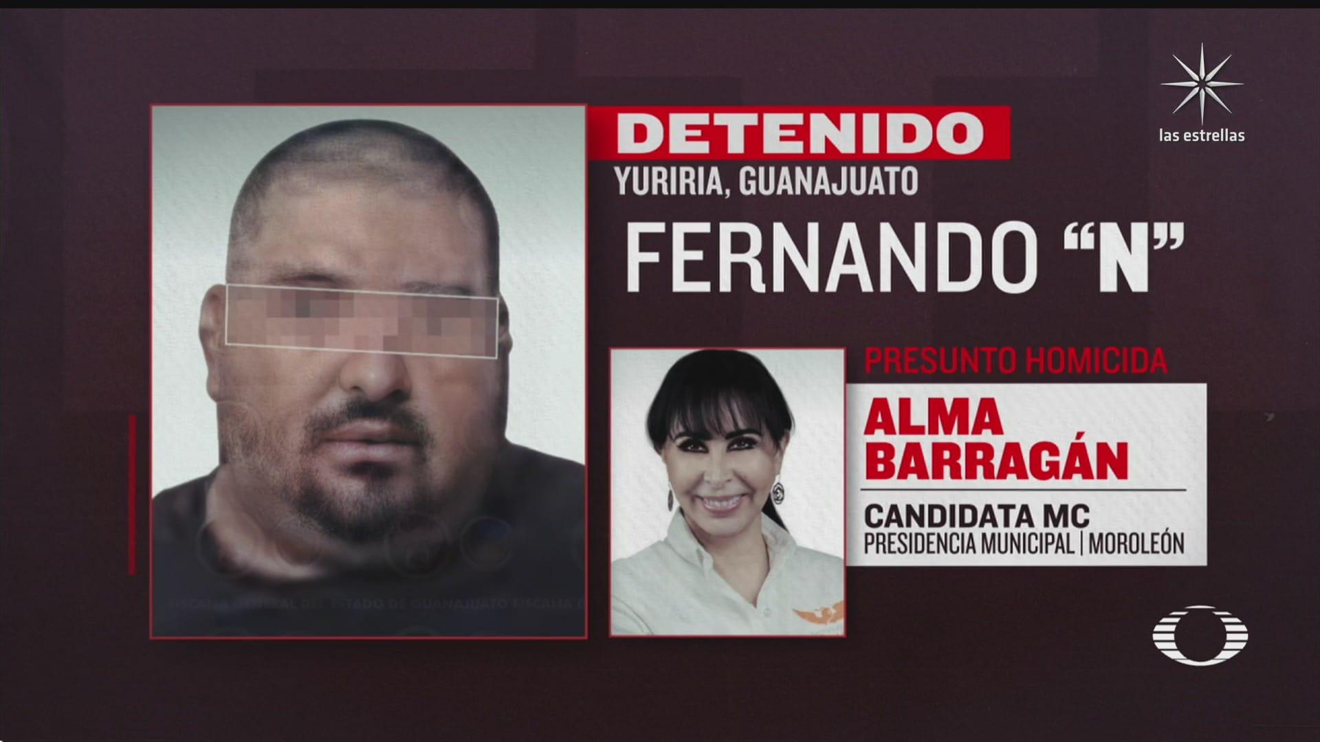 detienen al presunto autor material del homicidio de la candidata de mc en moroleon