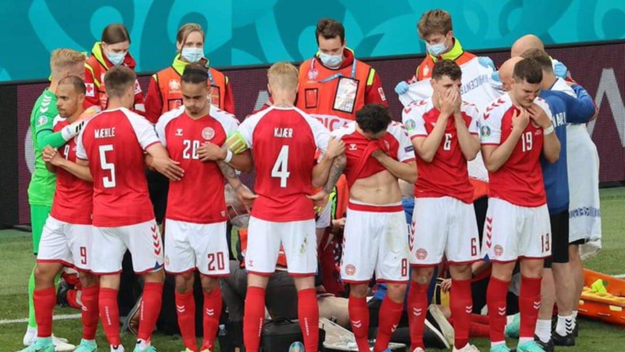 Detienen partido de la Eurocopa tras desvanecimiento de Christian Eriksen