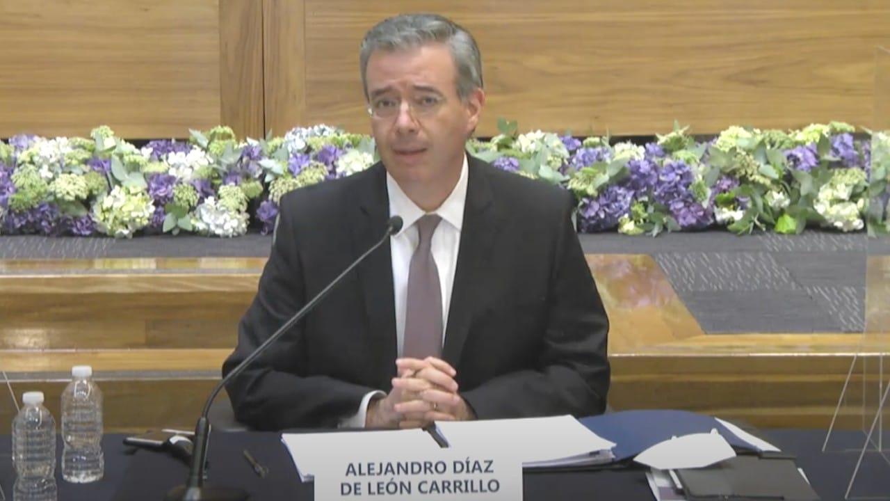 Alejandro Díaz de León, gobernador del Banco de México, 16 de junio de 2021 (Banxico)