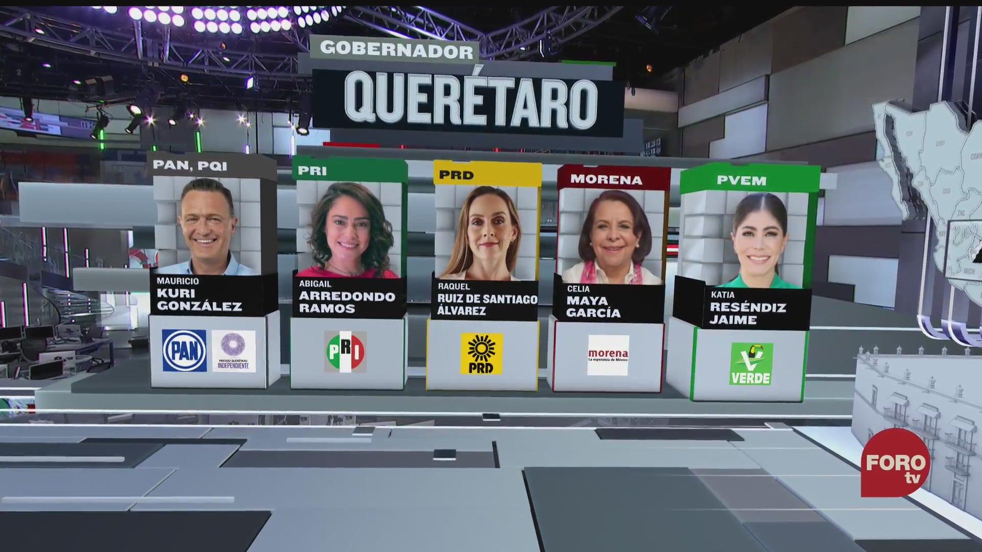 diez candidatos compiten por la gubernatura de queretaro