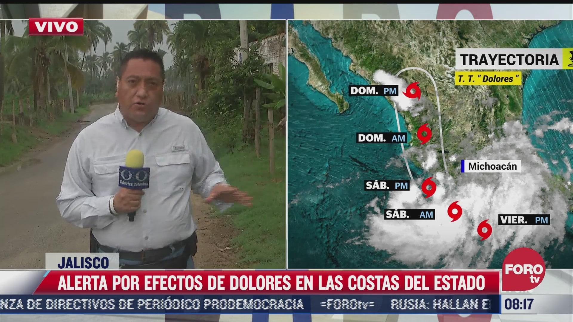 dolores provoca lluvias de fuertes a extraordinarias en occidente y sur de mexico
