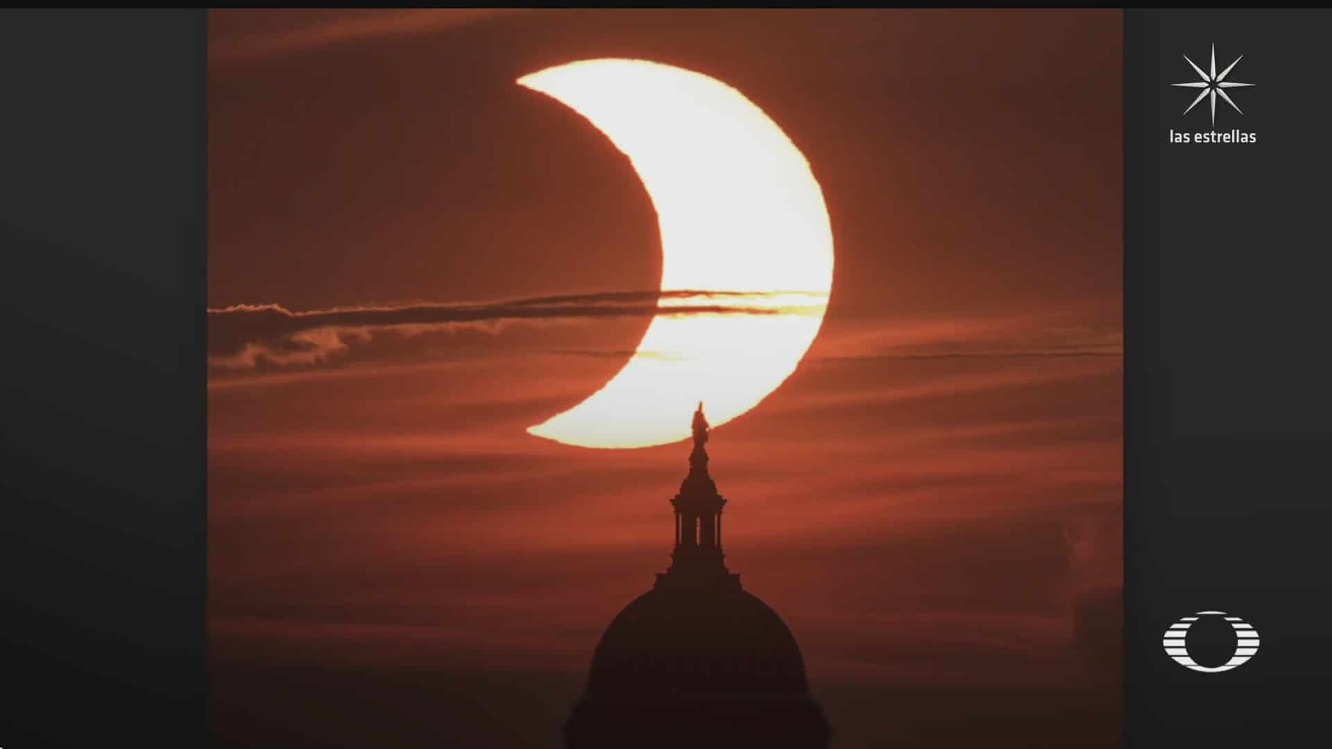 eclipse solar sorprende a paises del hemisferio norte