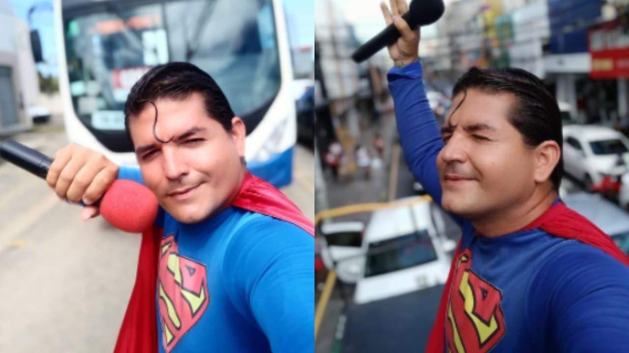 'Superman' brasileño es arrollado; intentó detener un auto