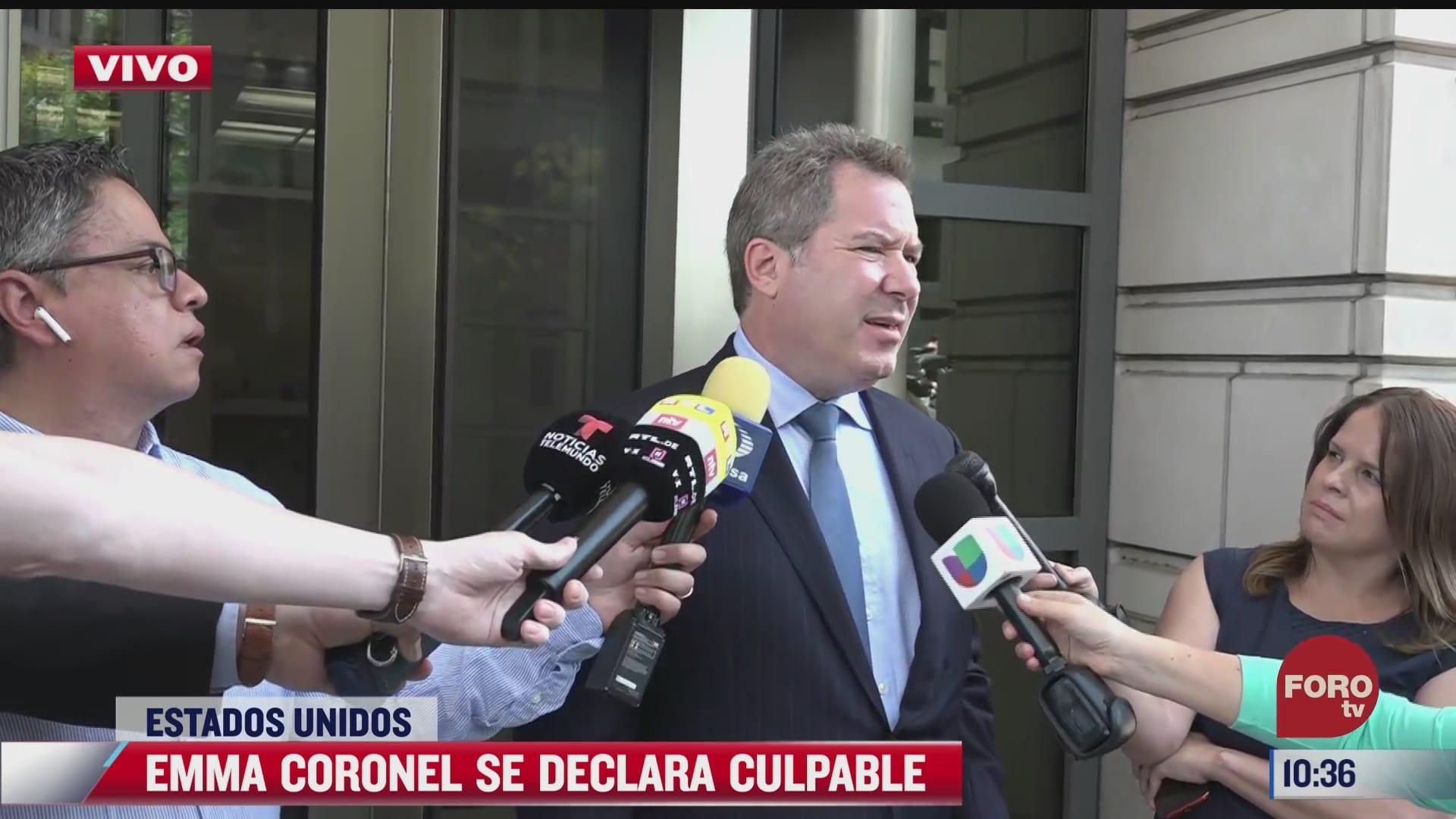 emma coronel satisfecha con proceso en eeuu dice abogado